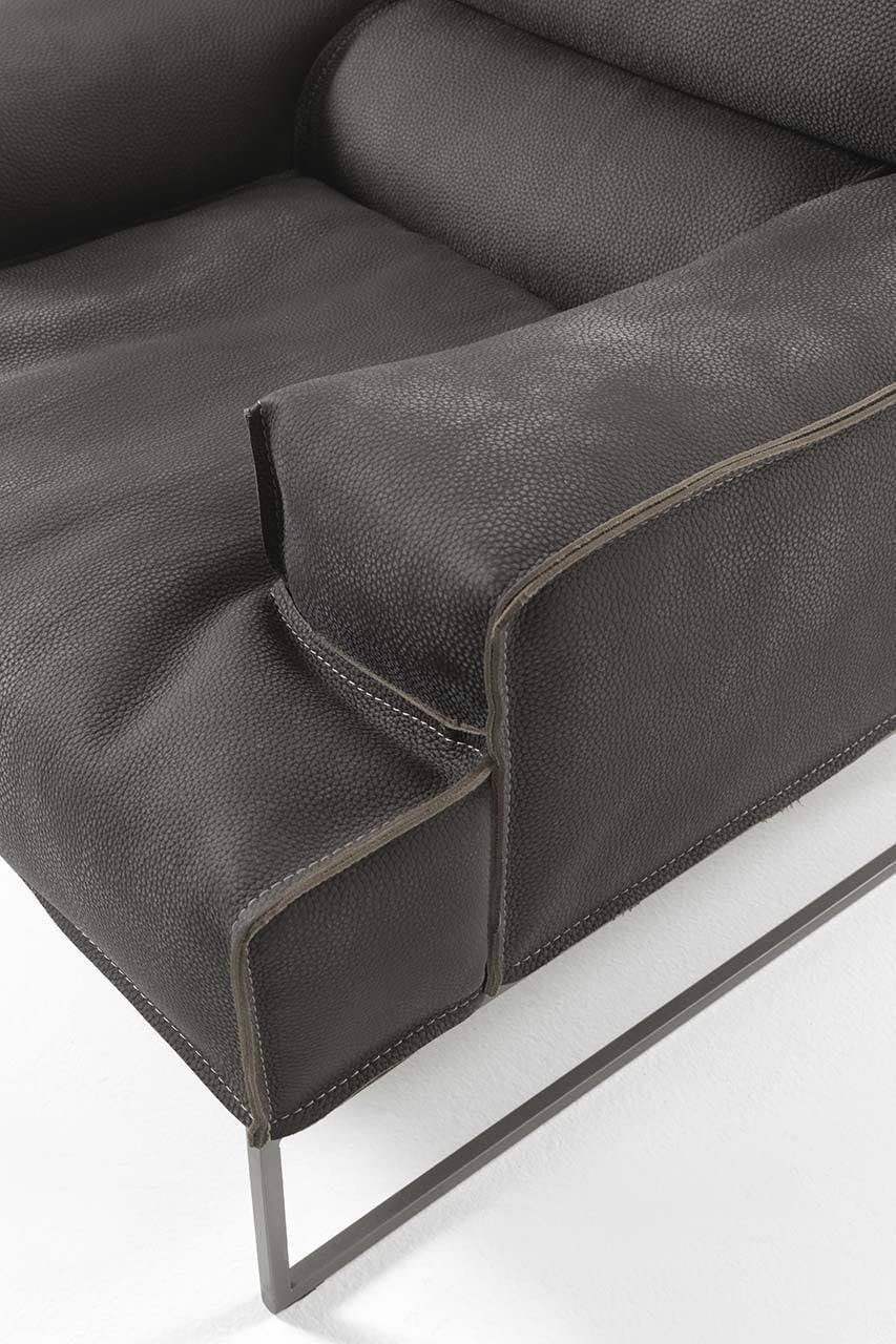 Frigerio Cloud Armchair Detail Arm Frame Haute Living