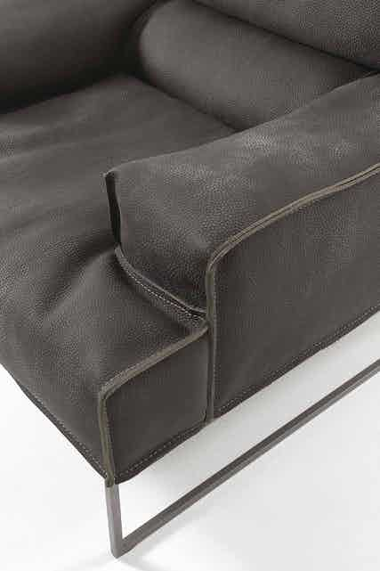 Frigerio Cloud Armchair Detail Arm Frame Haute Living