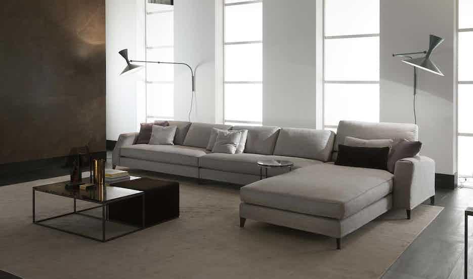 Frigerio davis sofa insitu front white haute living