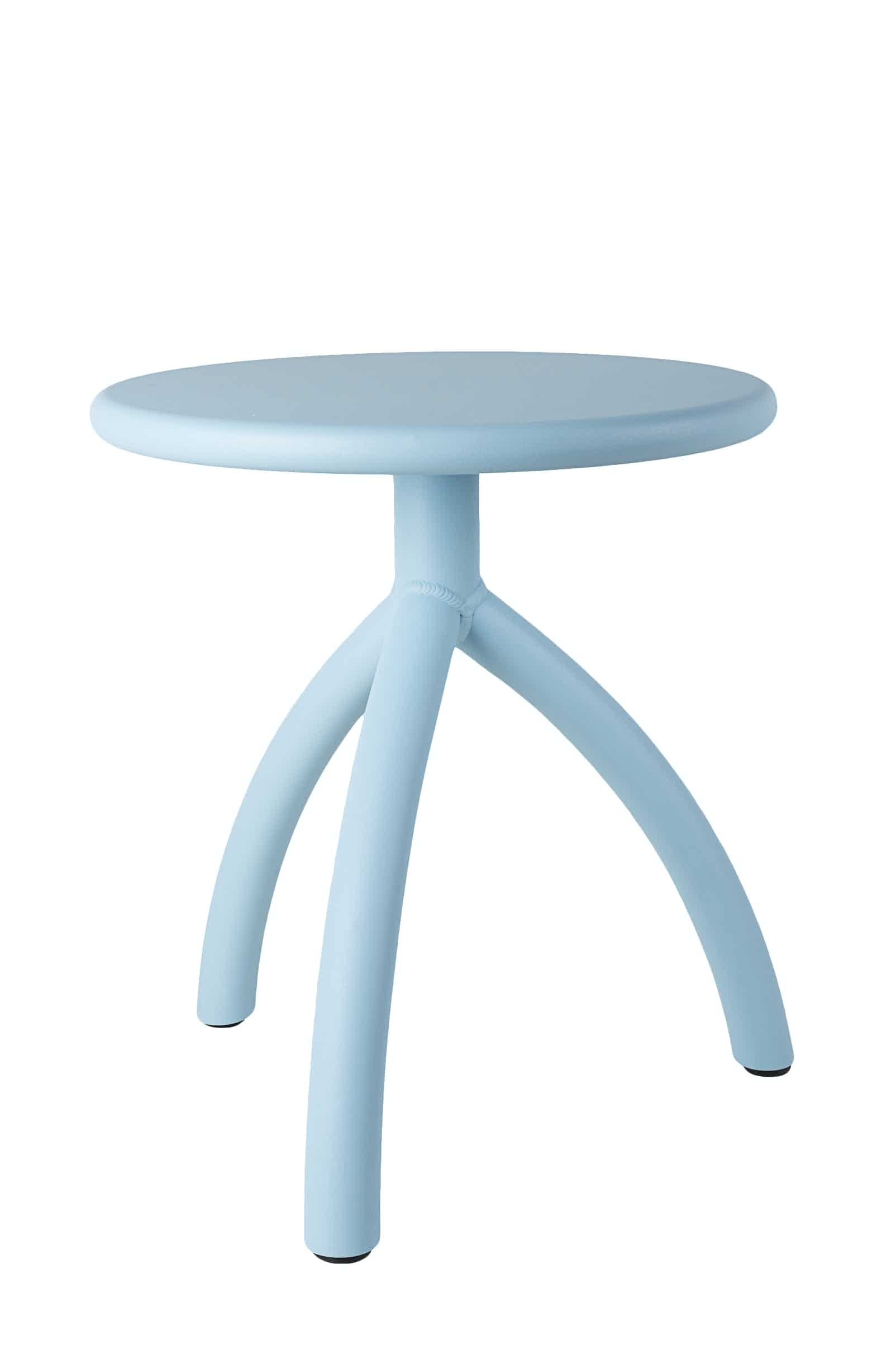 Functionals Light Blue Stool Haute Living