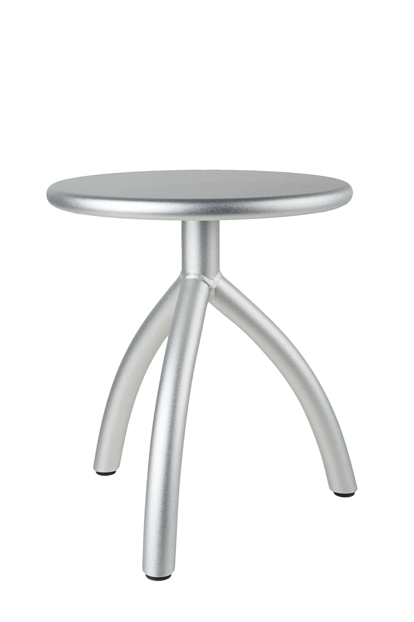 Functionals Silver Stool Haute Living