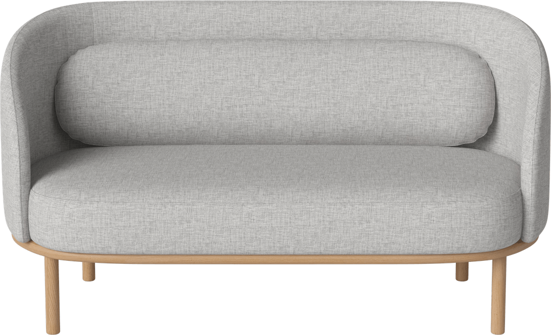bolia grey fuuga two seater sofa front haute living