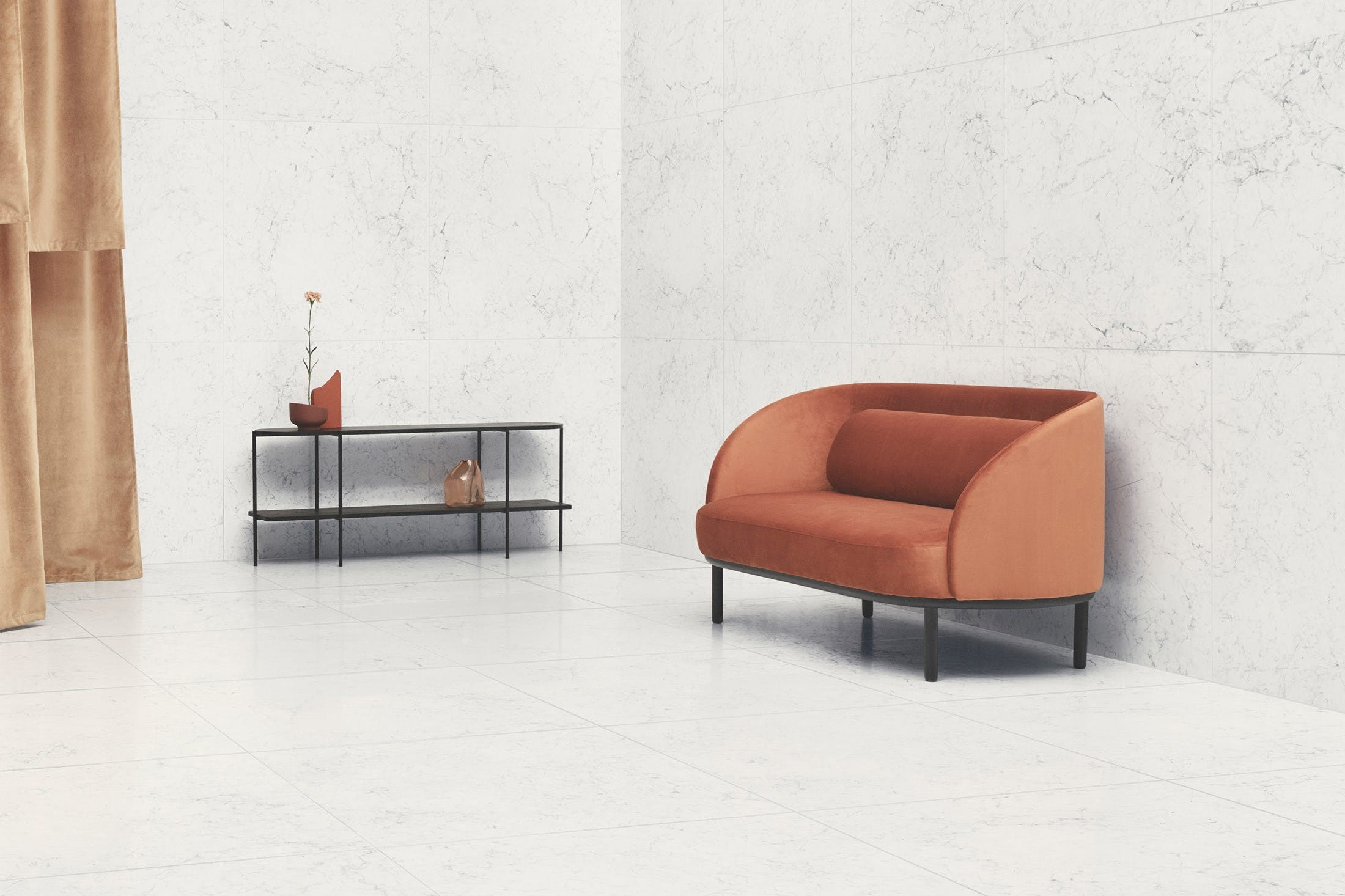 Bolia Fuuga Orange Sofa Insitu Haute Living