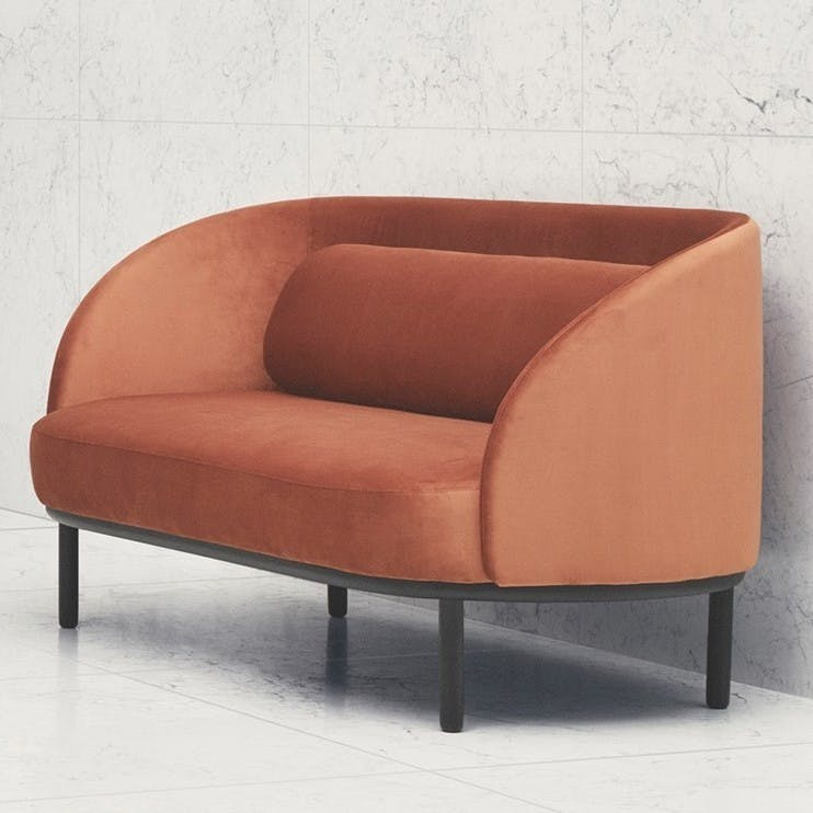 Bolia Fuuga Orange Sofa Insitu Haute Living
