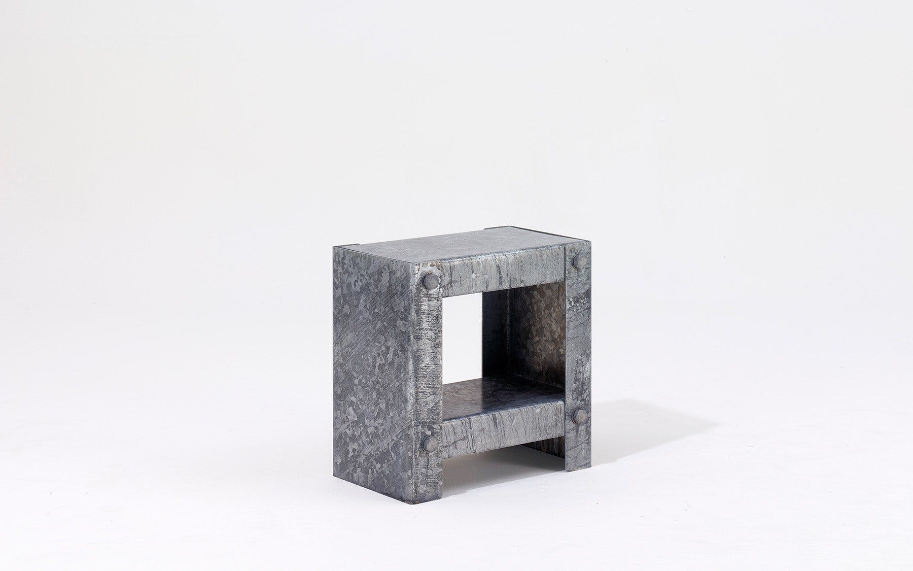 Galvanized Side Table By Peter Marigold