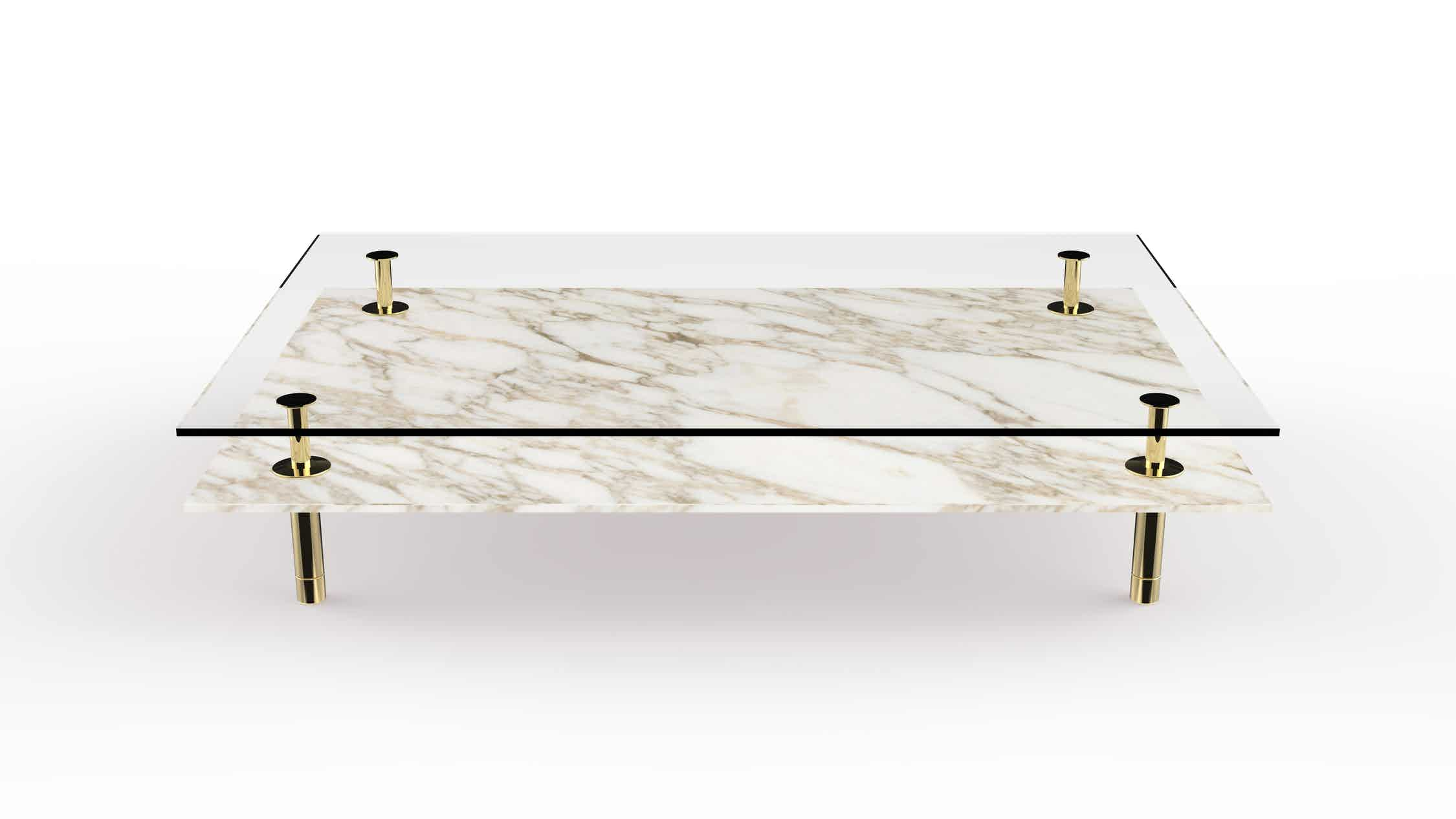 Ghidini 1961 legs coffee table front haute living