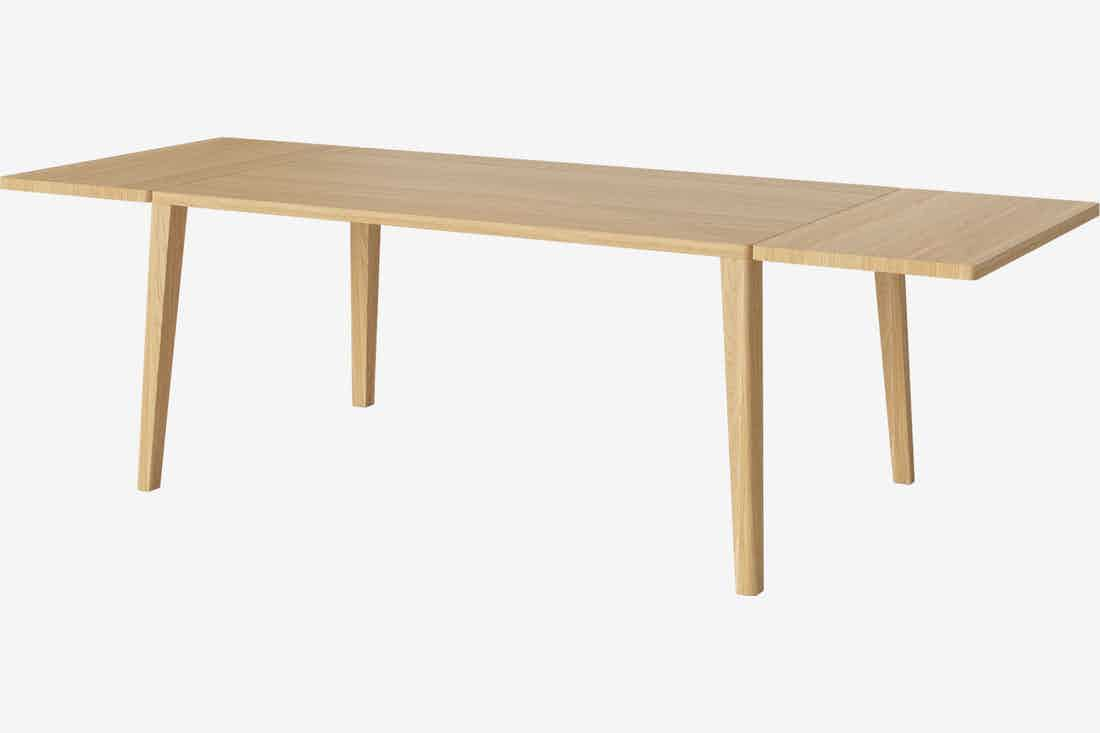 Bolia graceful dining table extended angle haute living