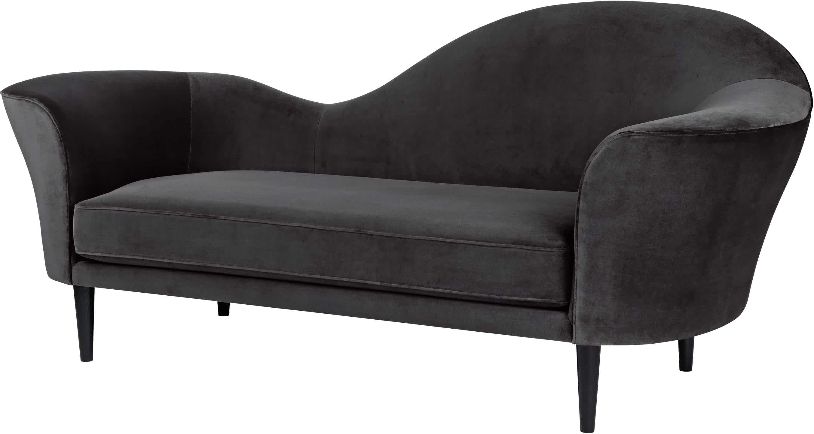 Gubi Grand Piano Sofa Black Angle Haute Living