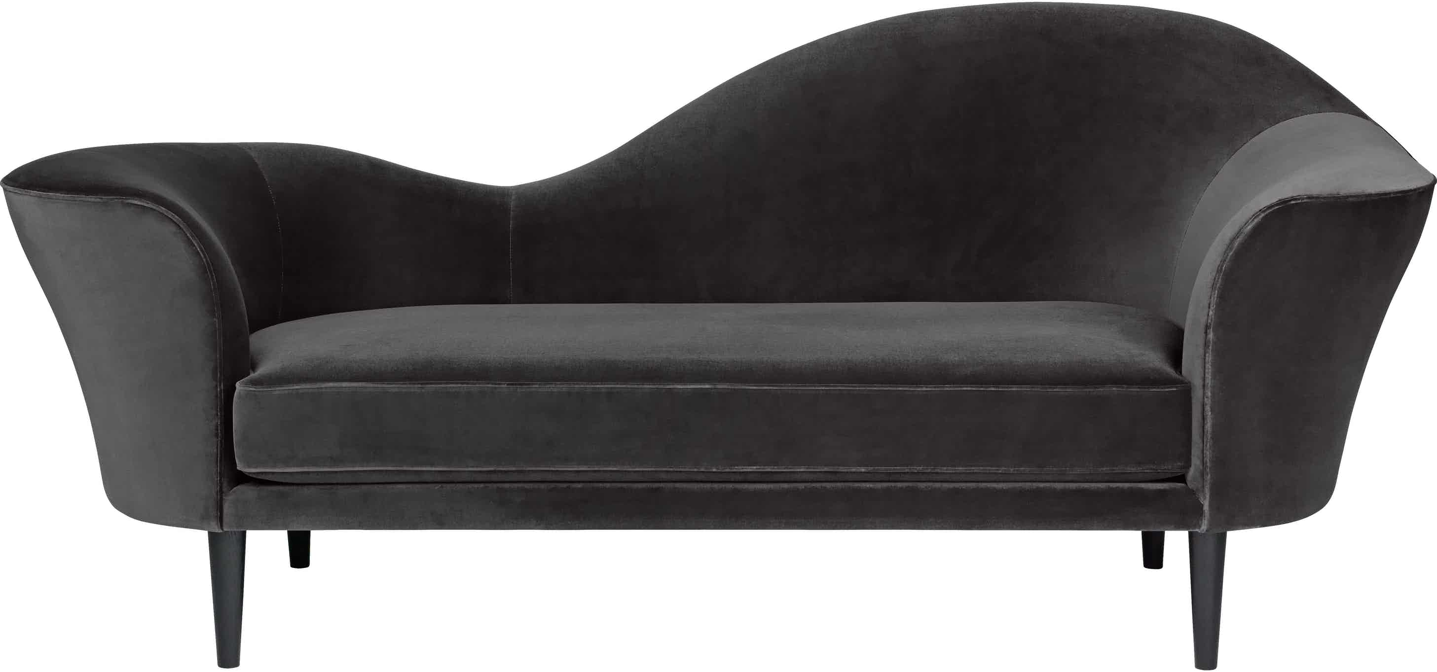 Gubi Grand Piano Sofa Black Front Haute Living