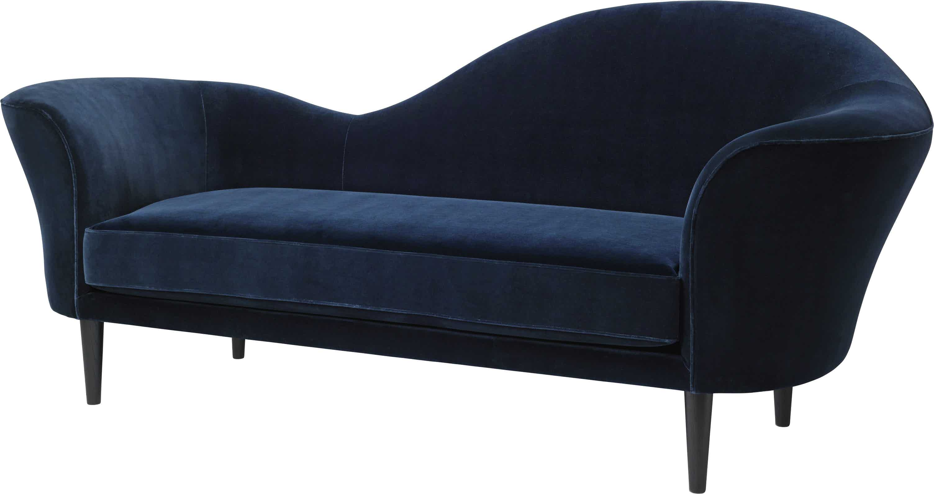 Gubi Grand Piano Sofa Blue Angle Haute Living