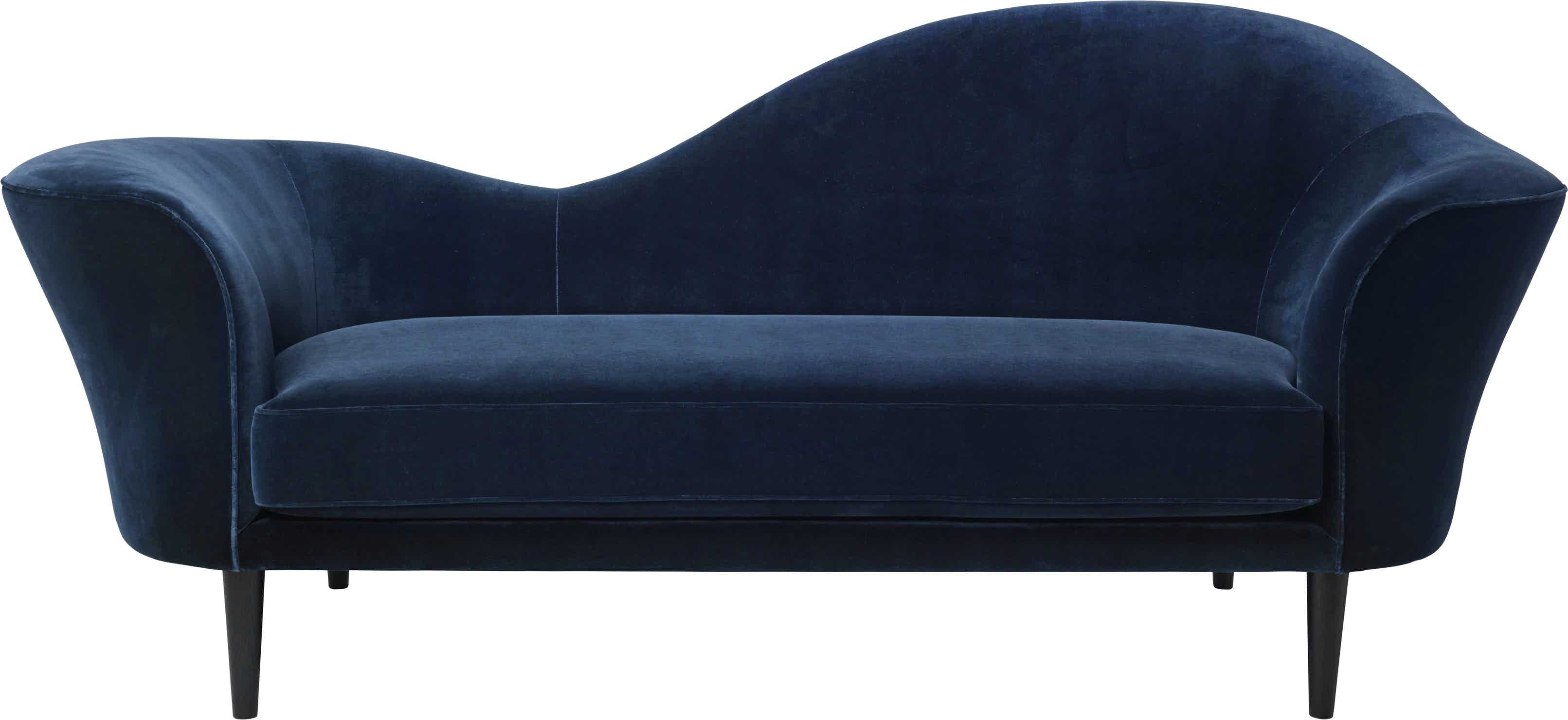 Gubi Grand Piano Sofa Blue Front Haute Living