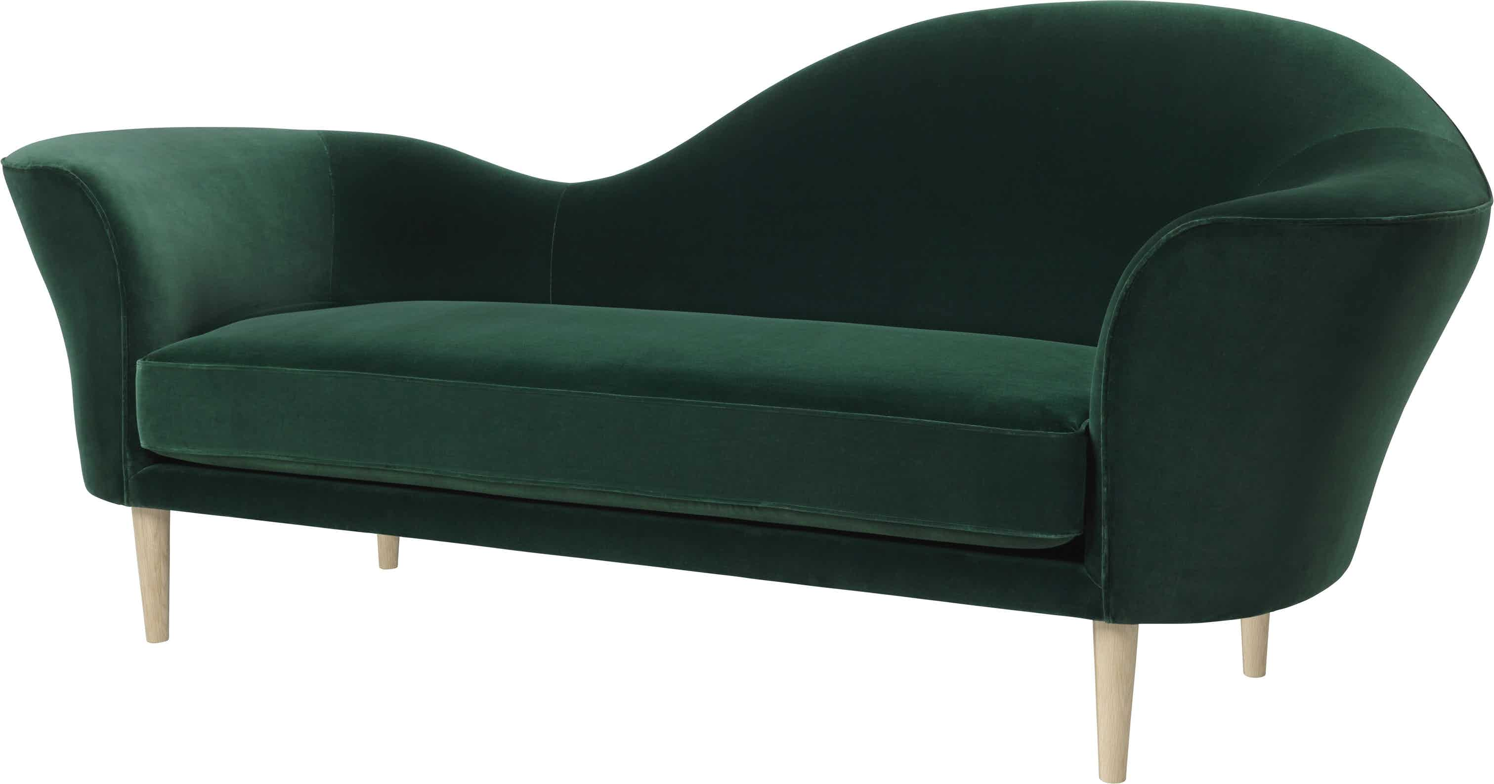 Gubi Grand Piano Sofa Green Angle Haute Living