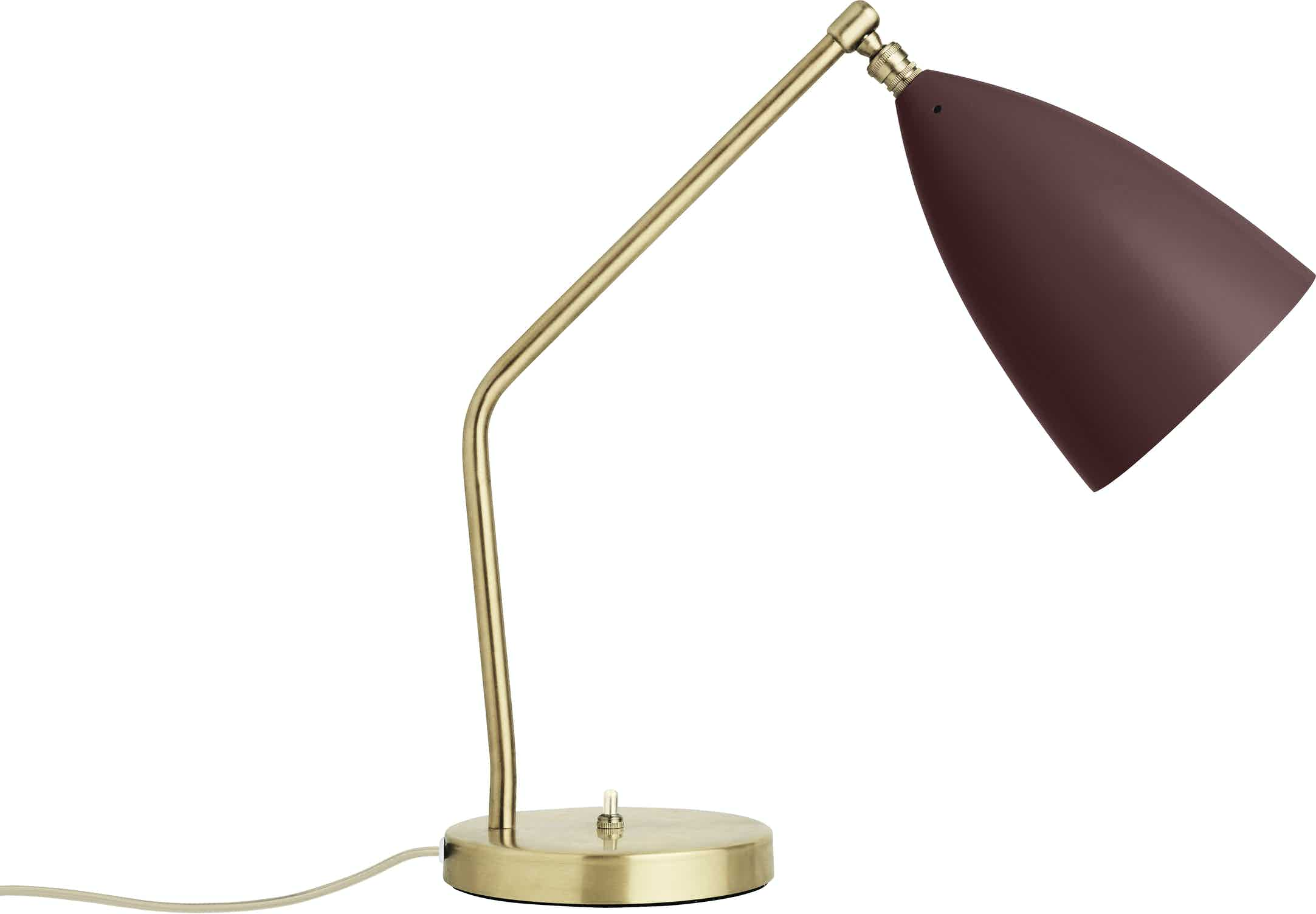Gubi Grashoppa Table Lamp Andorra Red Haute Living