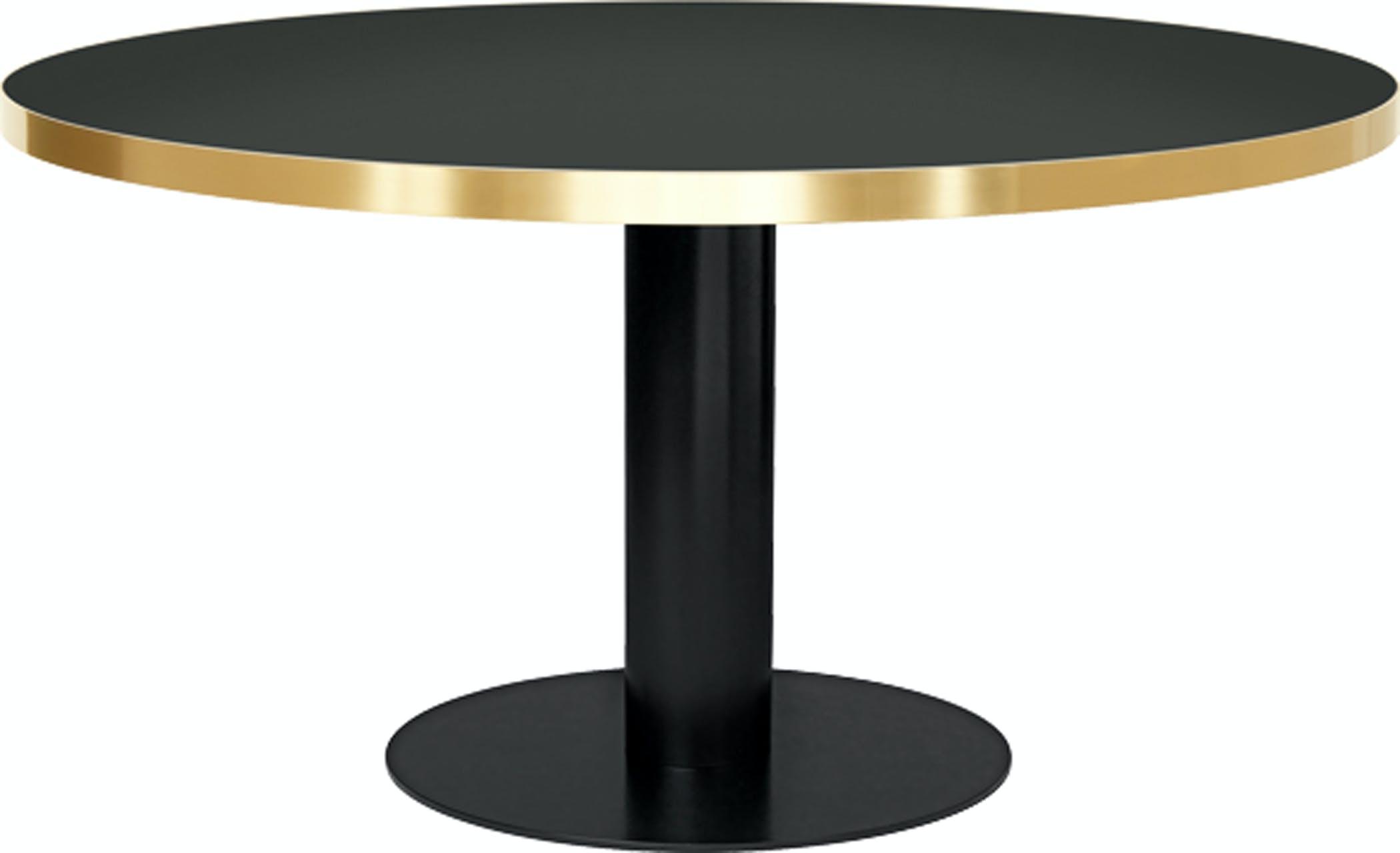 Gubi2 0 Diningtable Round Glass Size Black Granitegrey Temp Image