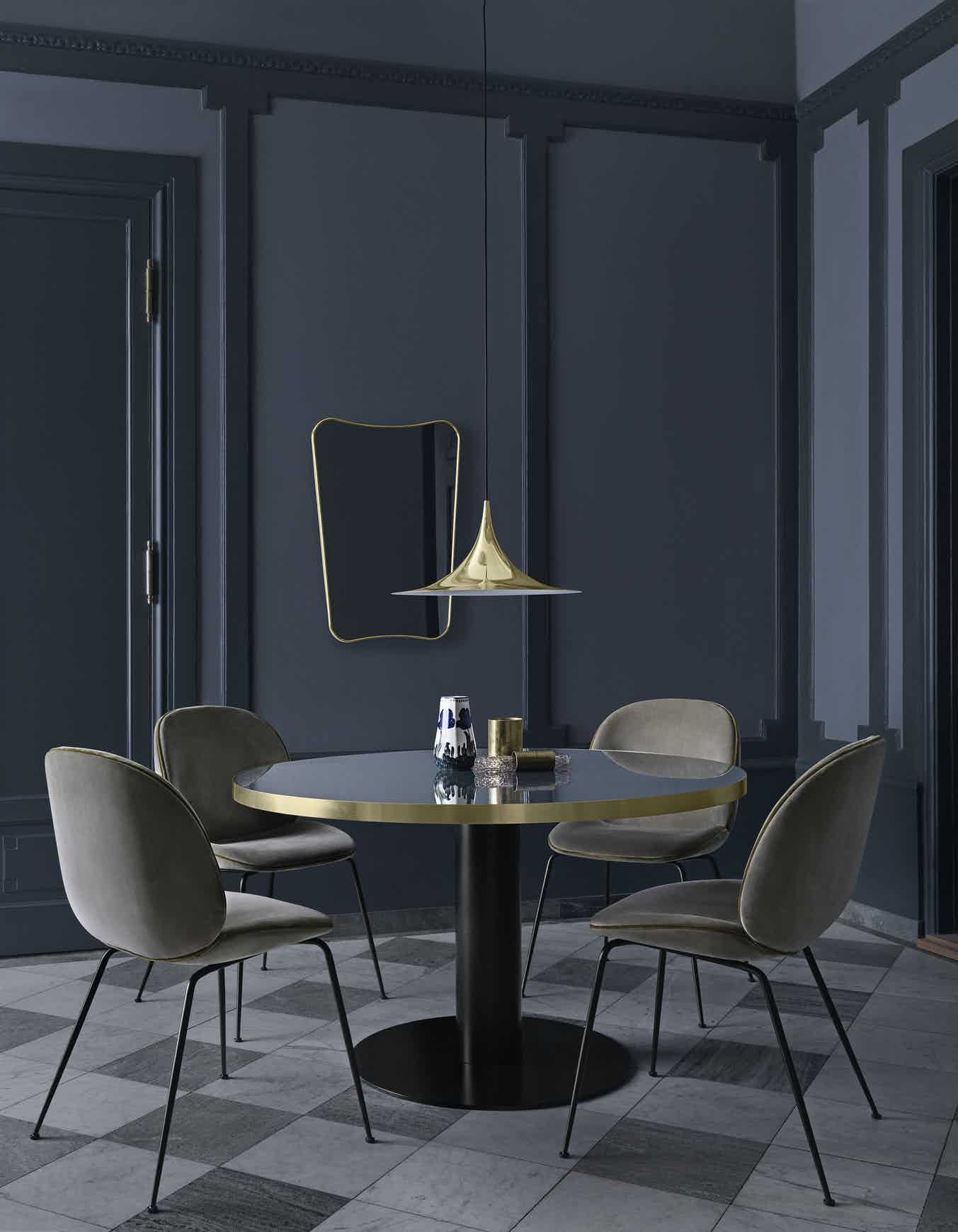 Gubi Gubi 2 0 Dining Table Insitu Gold Haute Living