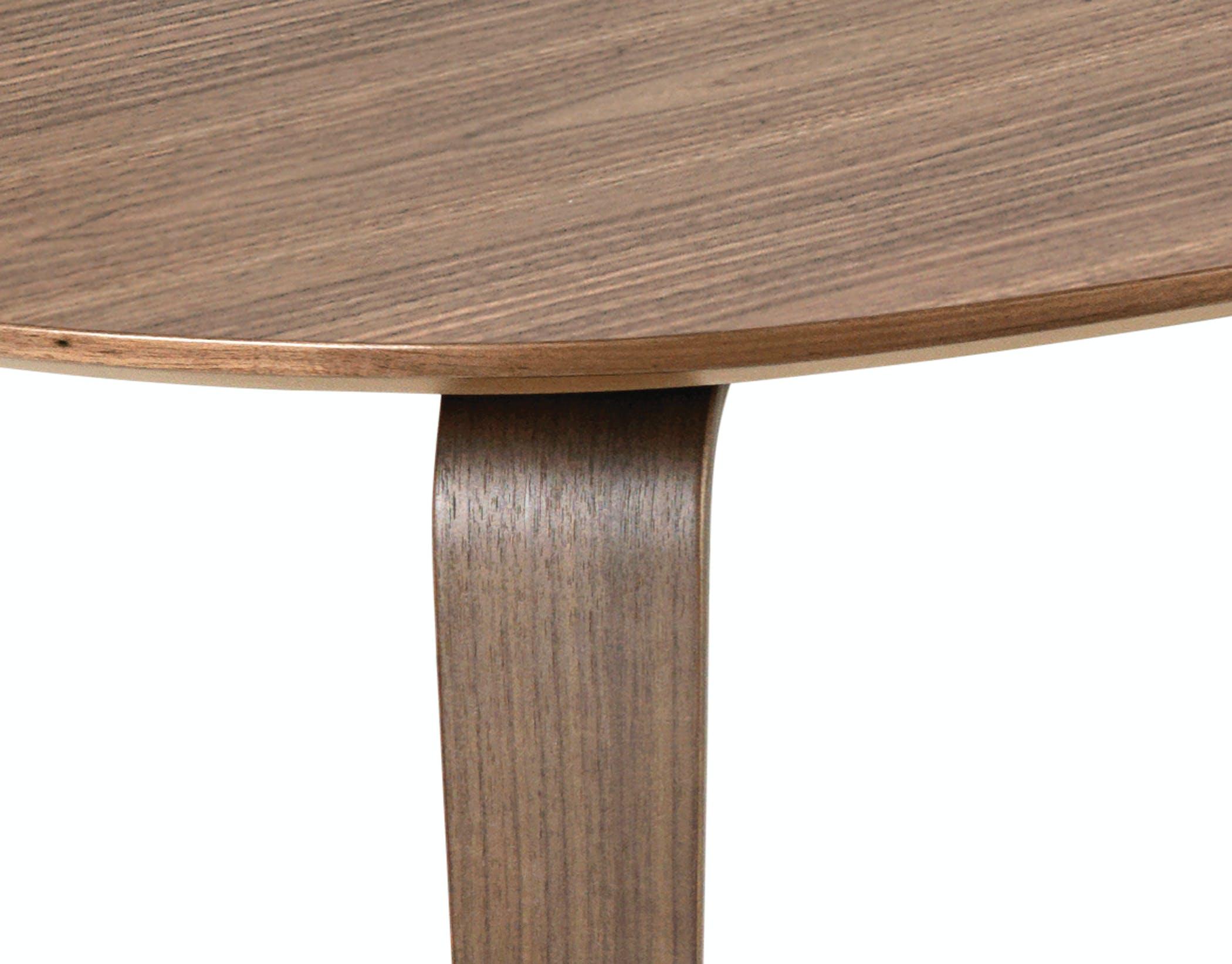 Gubi Table Elliptical Walnut 72Dpi Rgb Detail