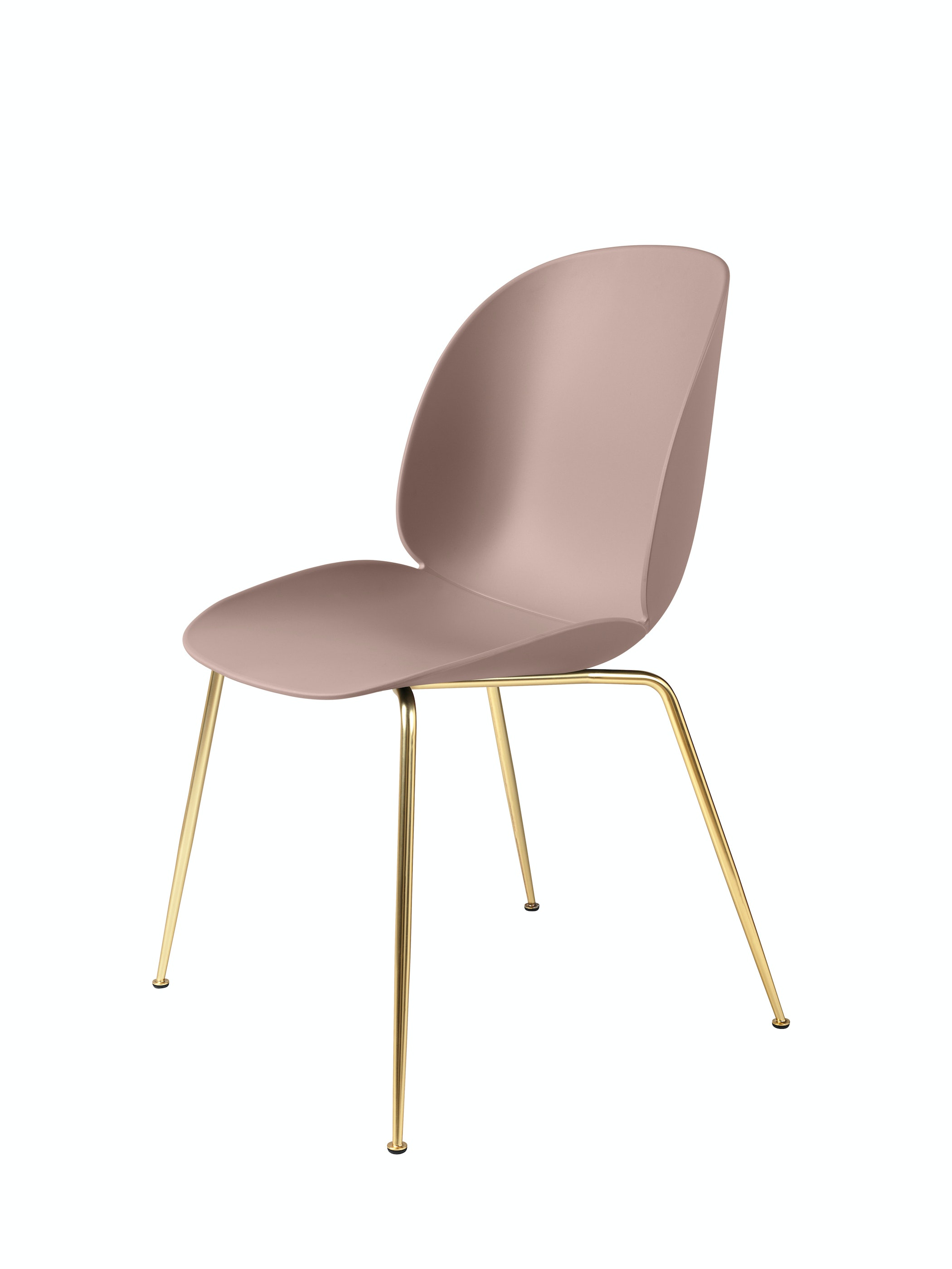 Beetle Dining Chair Conic Unupholstered Brass Sweet Pink Front