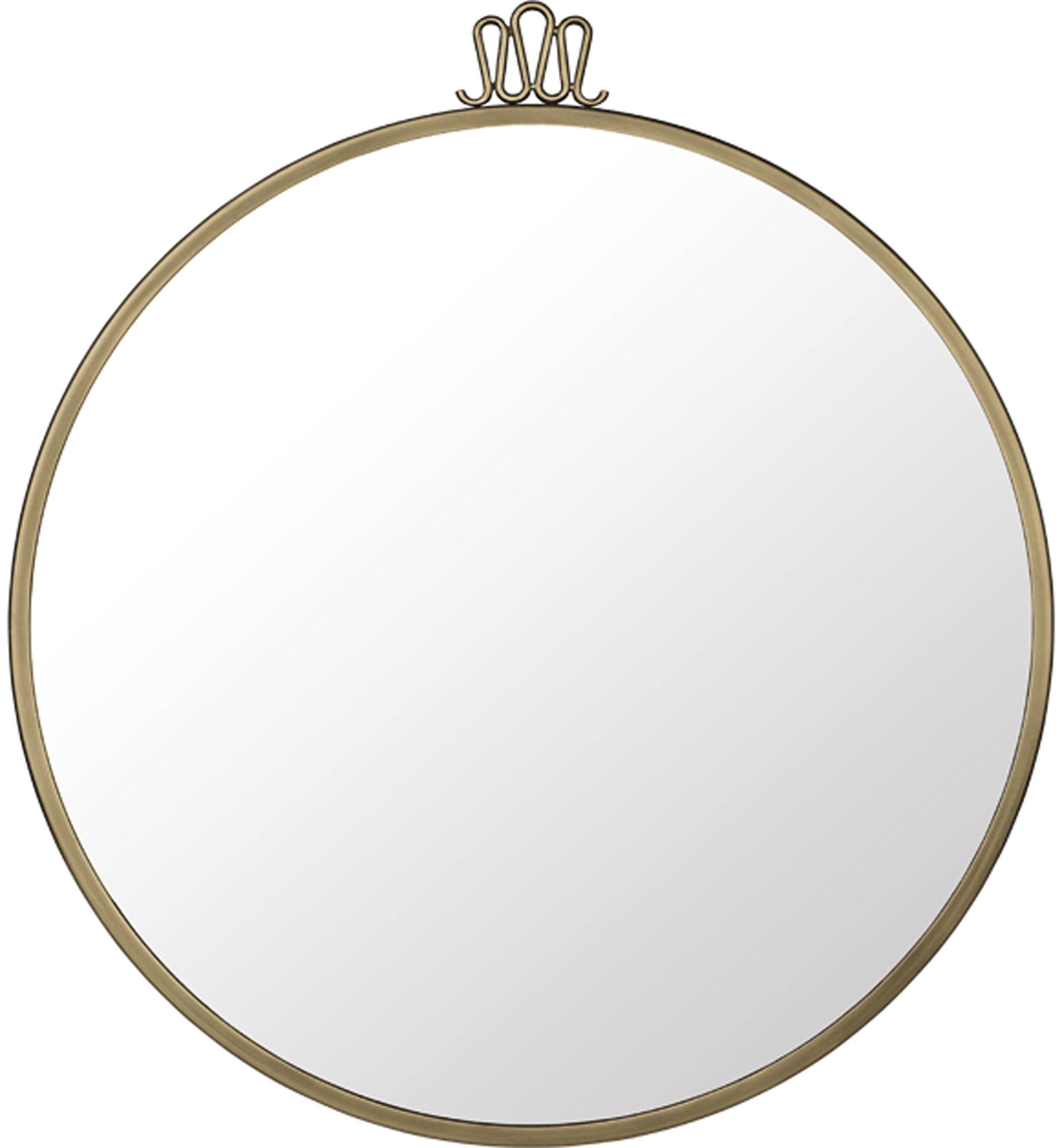 Randaccio Mirror 60 Antiquebrass Front Image