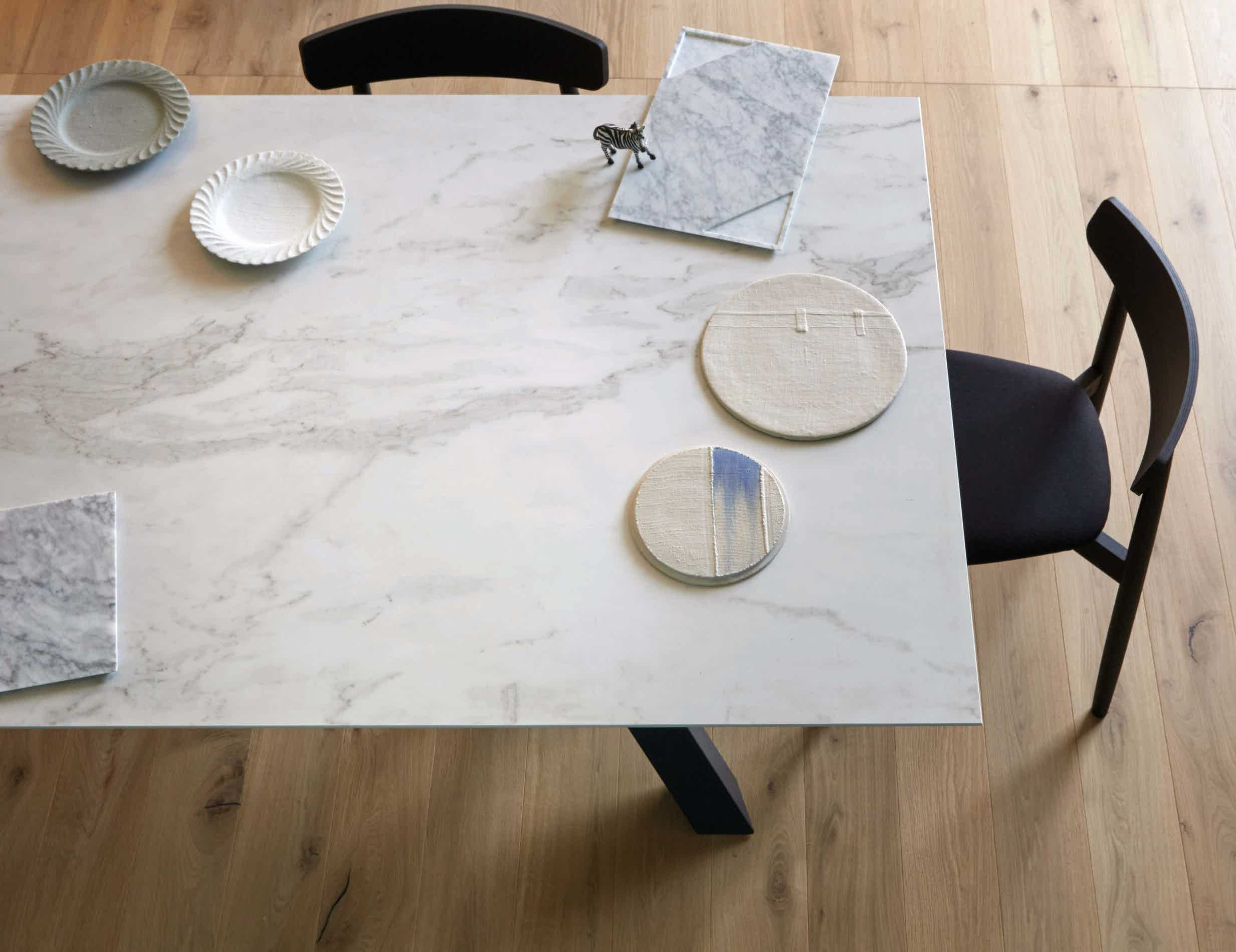 Miniforms Gustave Table Marble Half Haute Living