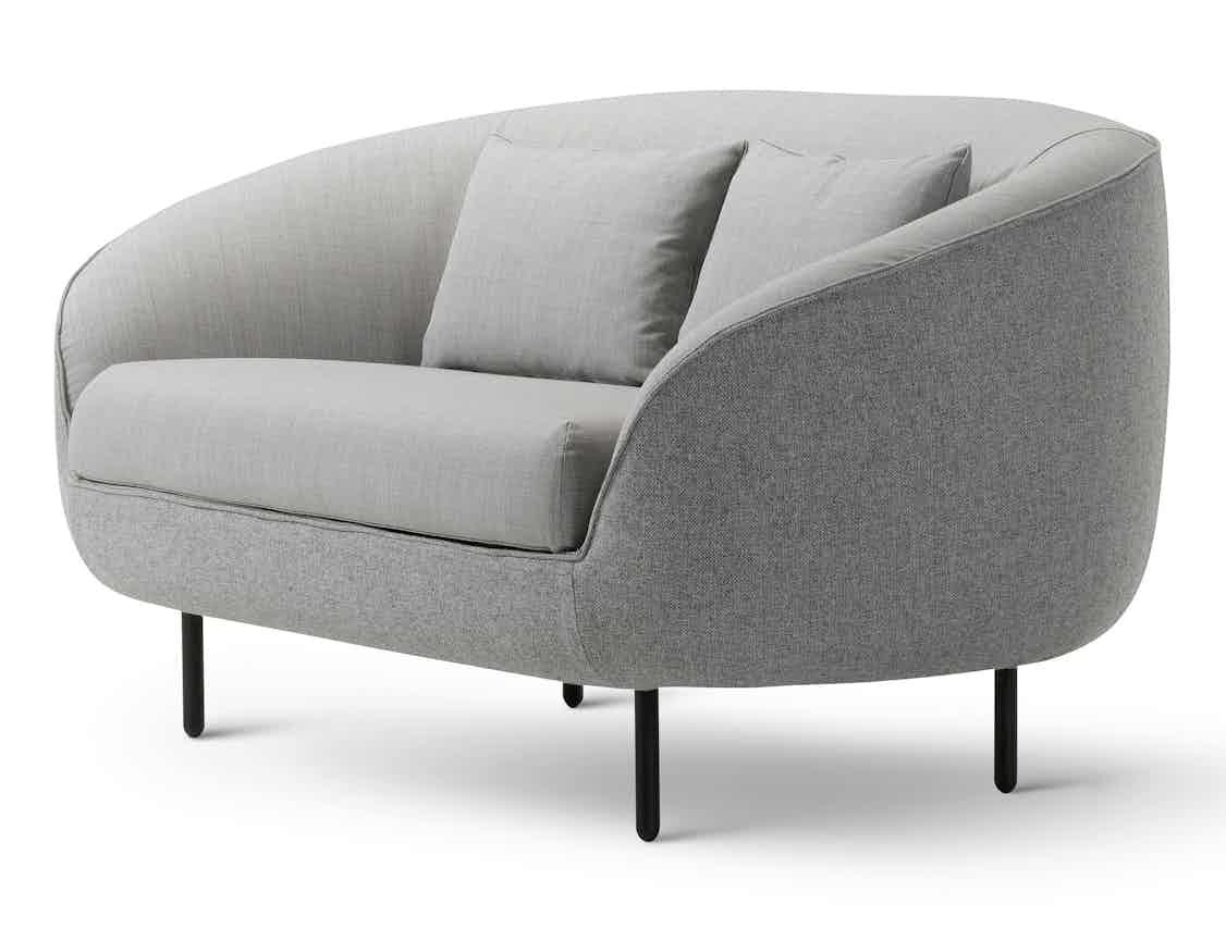 Fredericia Furniture Haiku 2 Seat Front Low Angle Haute Living