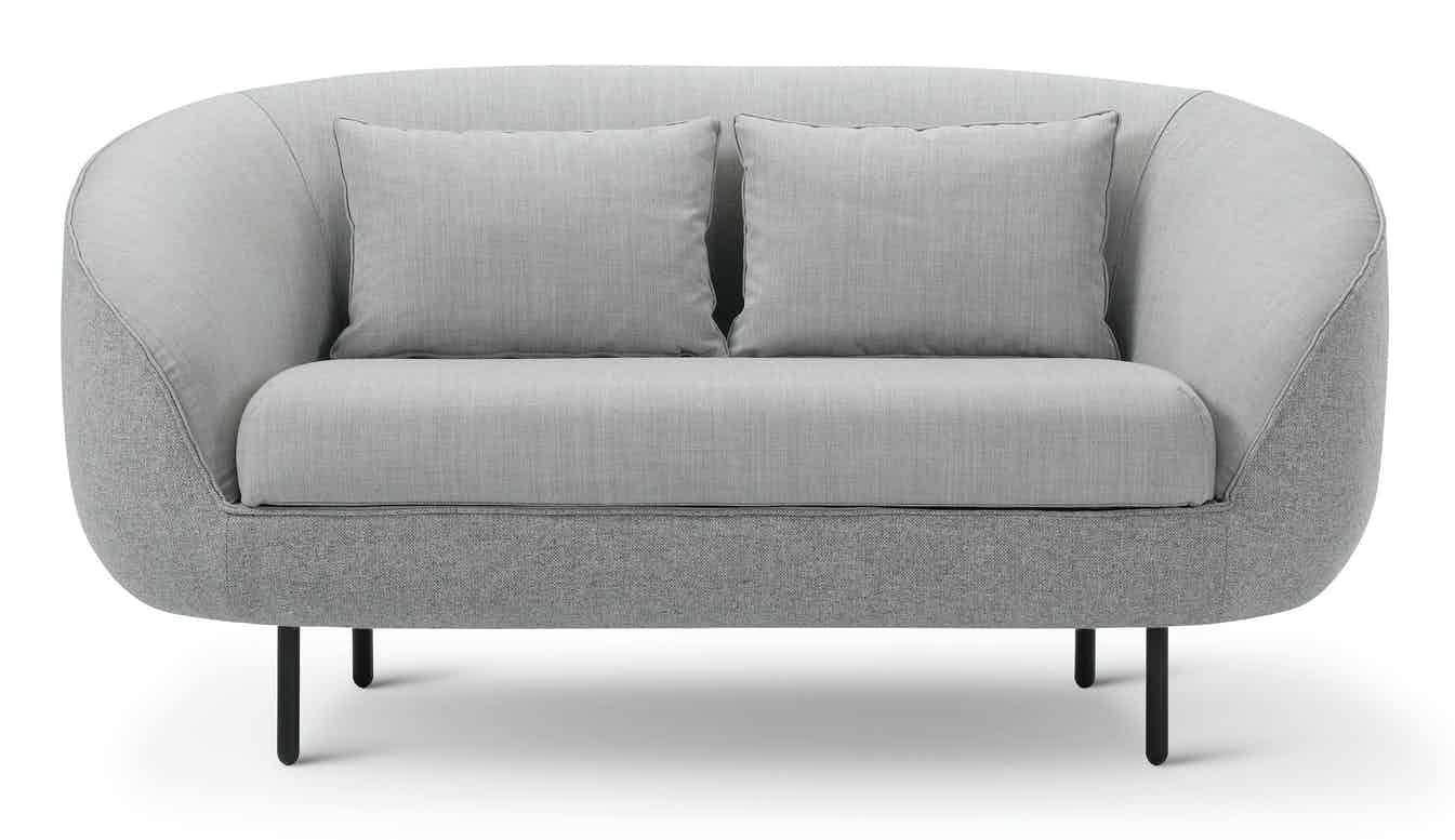 Fredericia Furniture Haiku 2 Seat Front Low Grey Haute Living