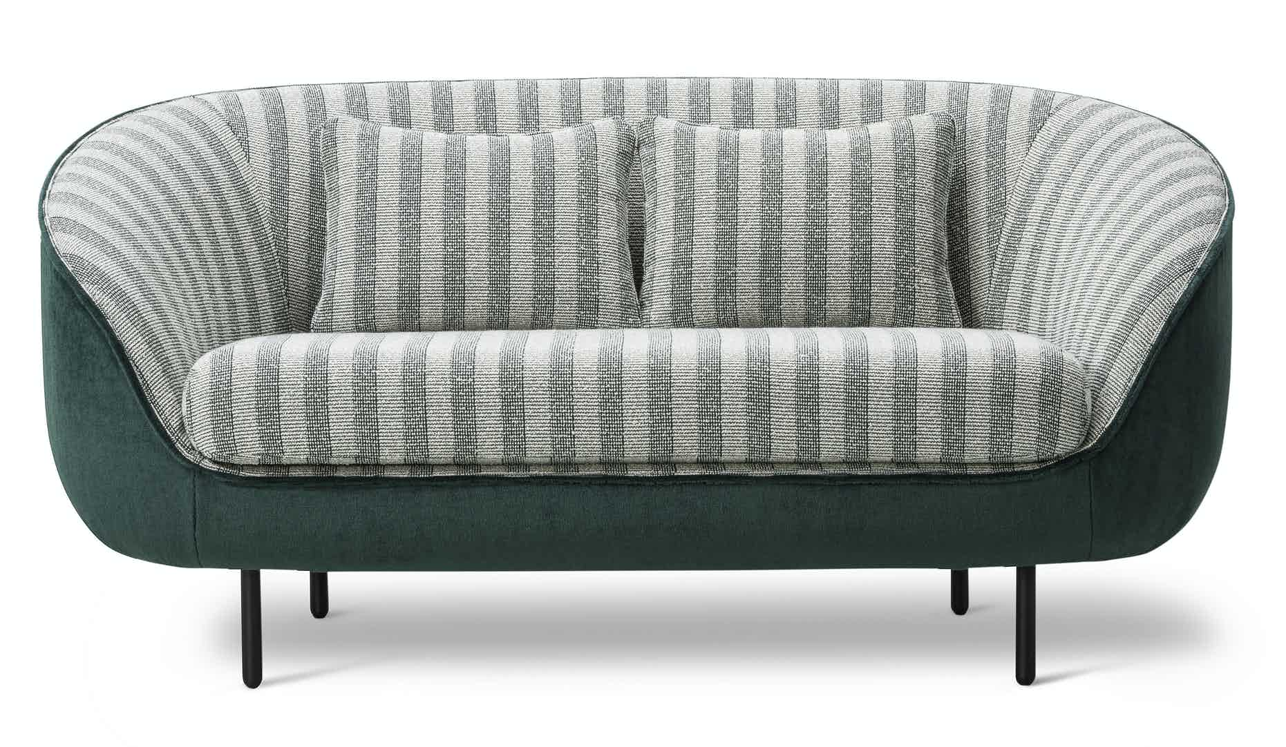 Fredericia Furniture Haiku 2 Seat Front Striped Haute Living