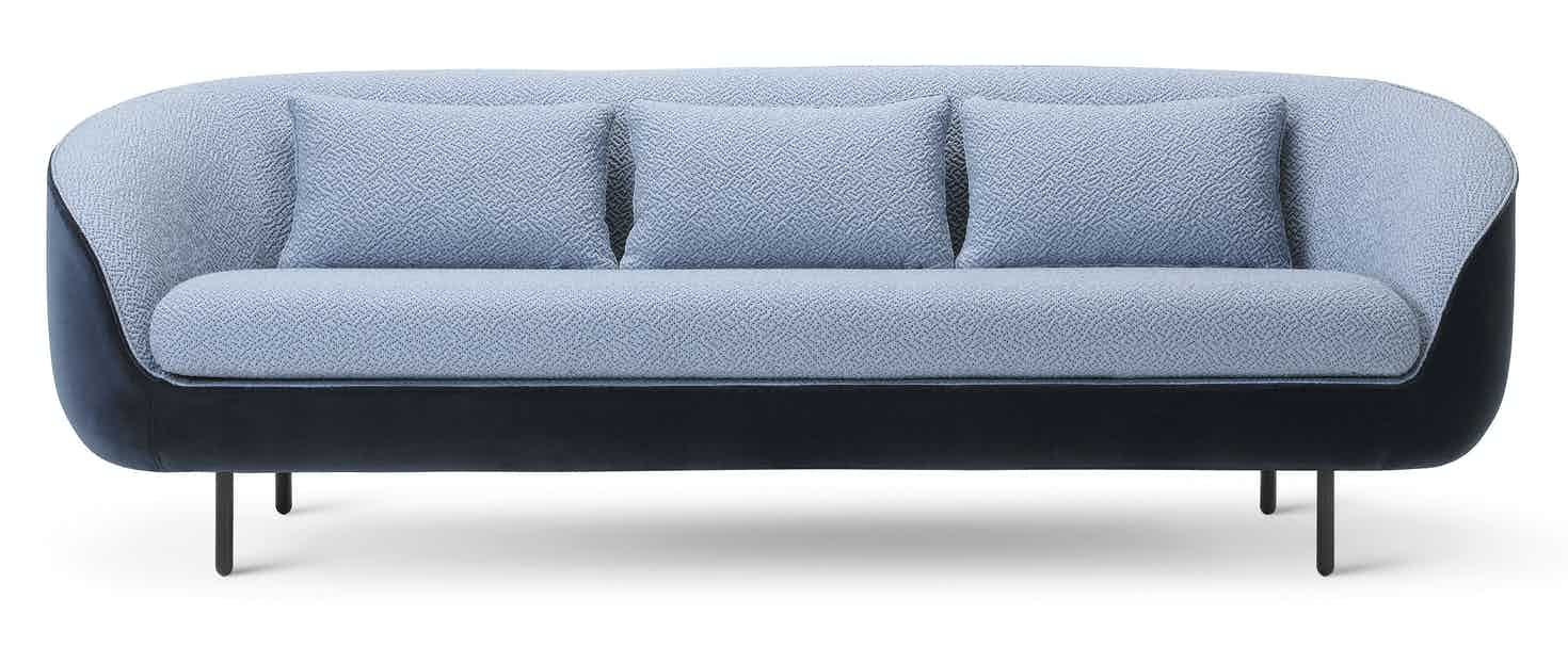 Fredericia Furniture Haiku 3 Seat Front Blue Haute Living