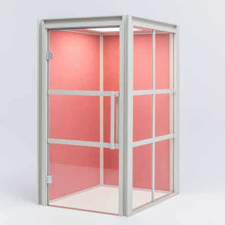Mdd furniture hako acoustic pod pink haute living
