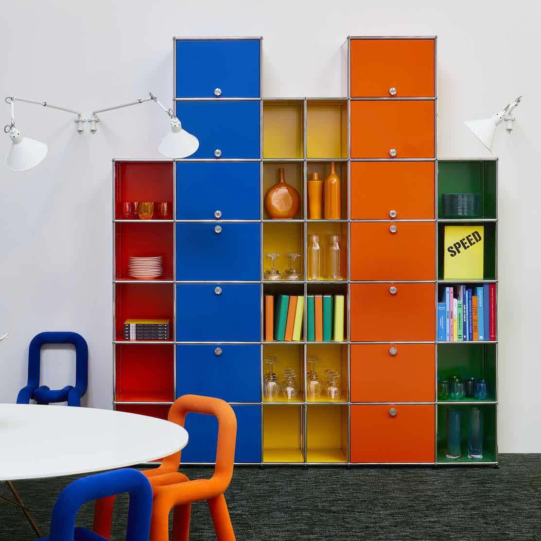 Usm haller modular storage system colorful haute living