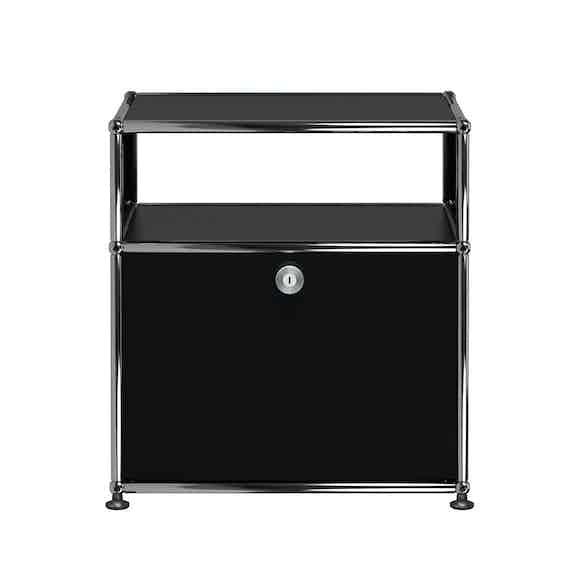 Usm-white-quick-ship-haller-modern-nightstand-graphite-black-haute-living