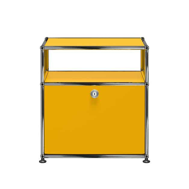 Usm-white-quick-ship-haller-modern-nightstand-yellow-haute-living