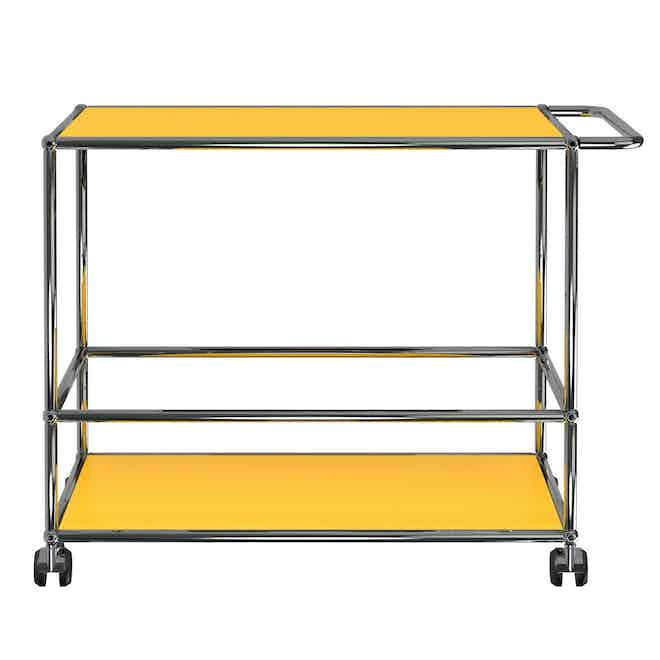 Usm-quick-ship-Haller-Serving-Cart-L-yellow-haute-living
