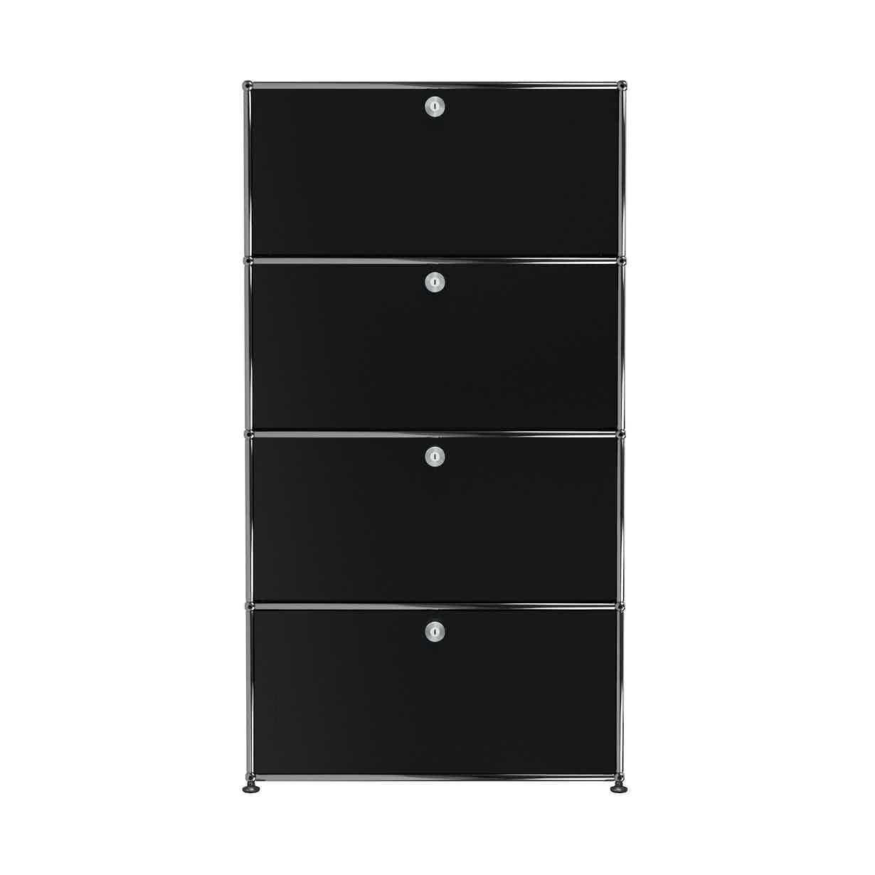 Usm-quick-ship-Haller-Storage-S118A-black-haute-living