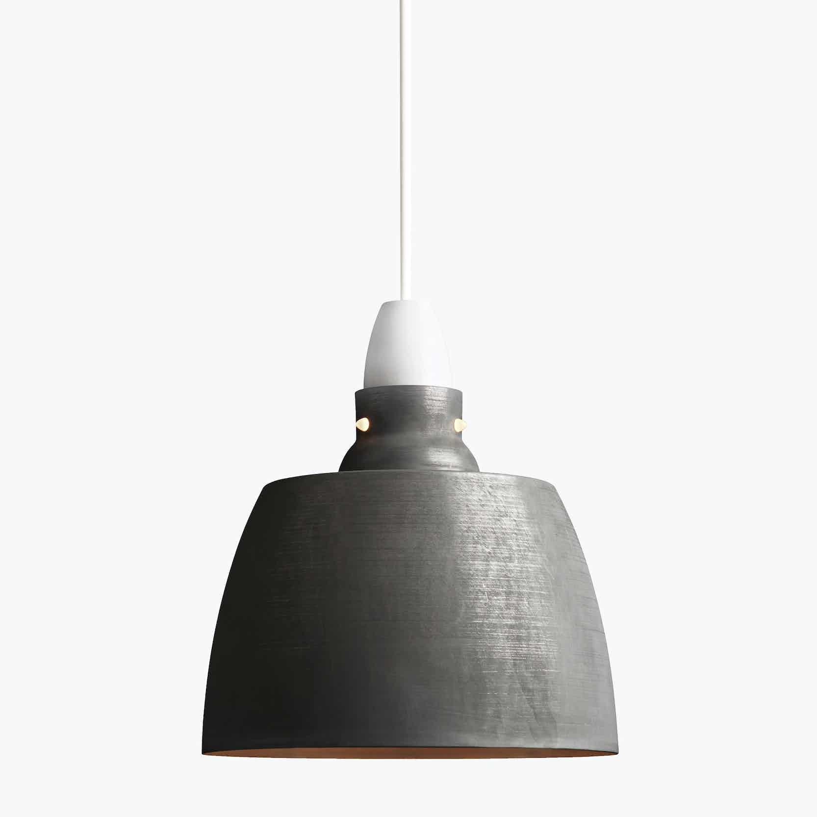 New works furniture hang on honey pendant oxidized aluminum haute living