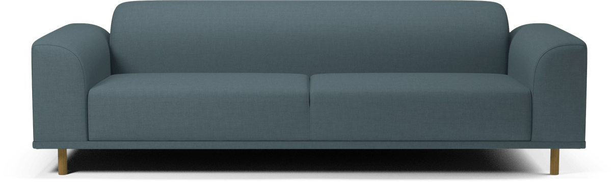 bolia blue hannah 3 seater sofa haute living