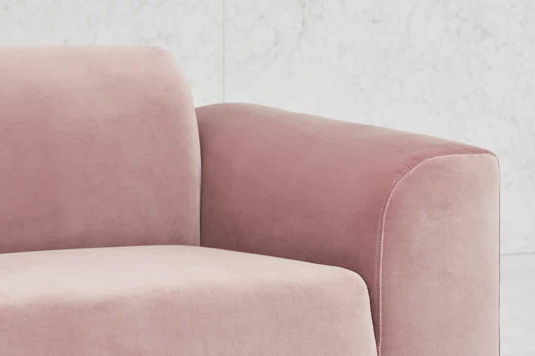 Bolia Pink Velvet Hannah Sofa Detail Haute Living