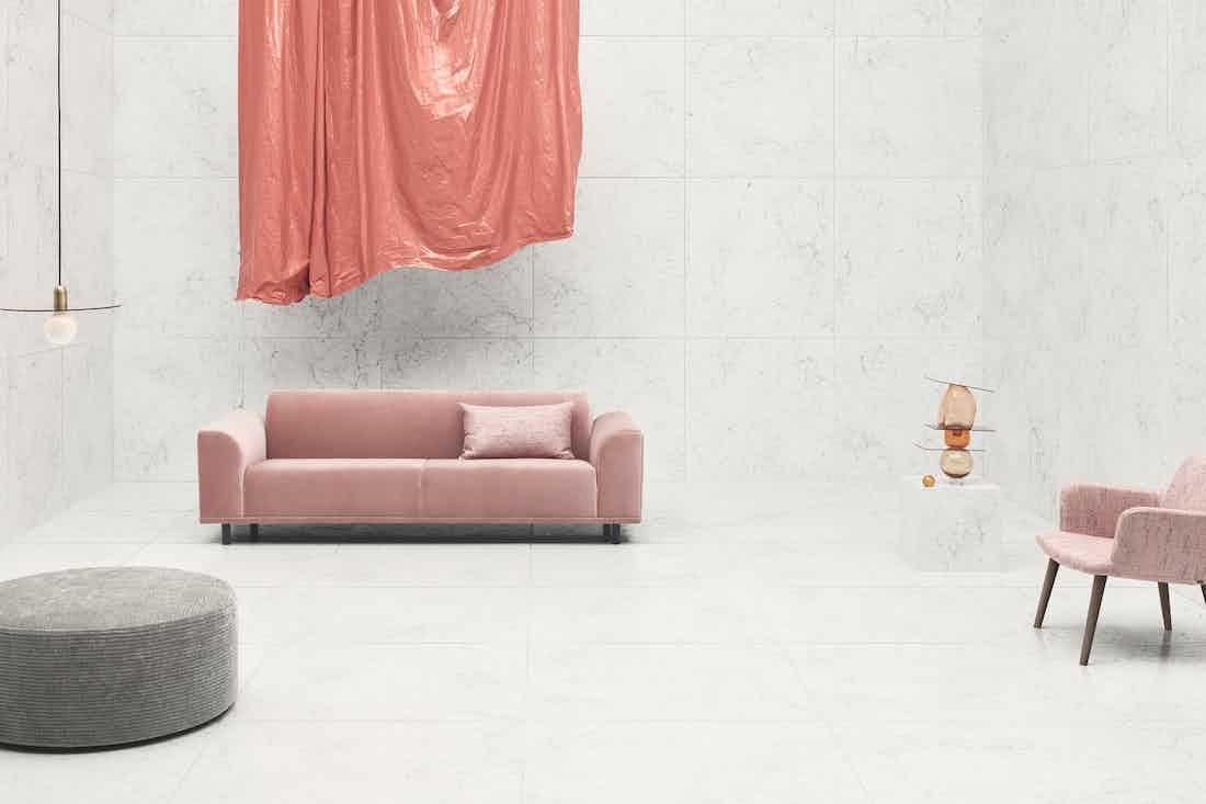Bolia Pink Velvet Hannah Sofa Insitu Haute Living