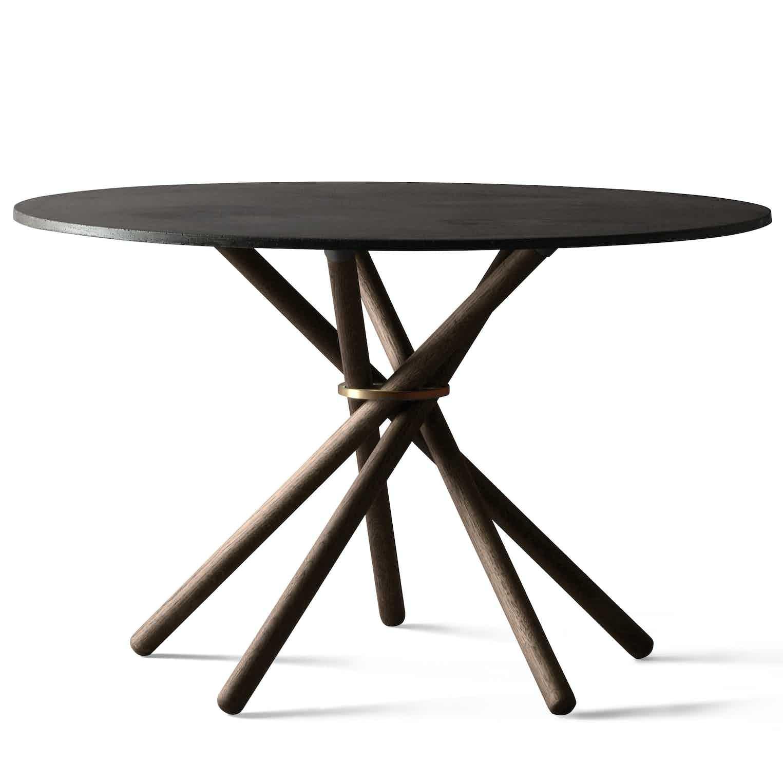 Eberhart furniture hector table black grey side haute living