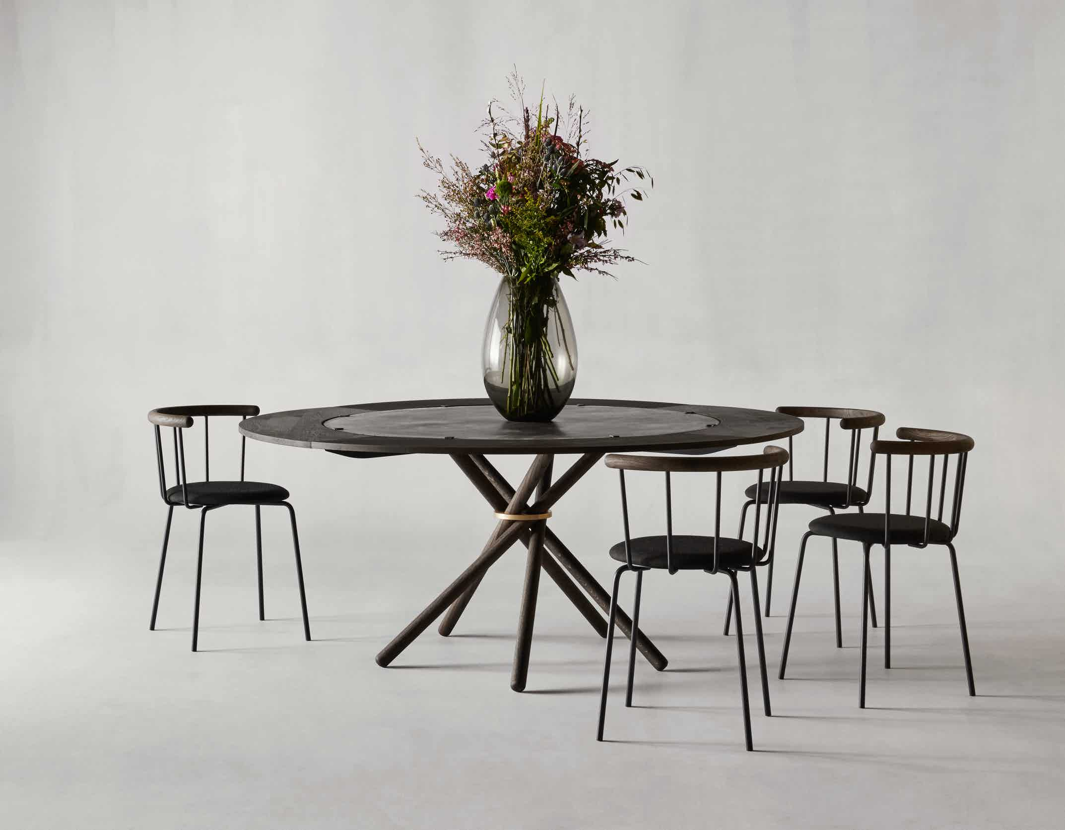 Eberhart furniture hector table black insitu haute living