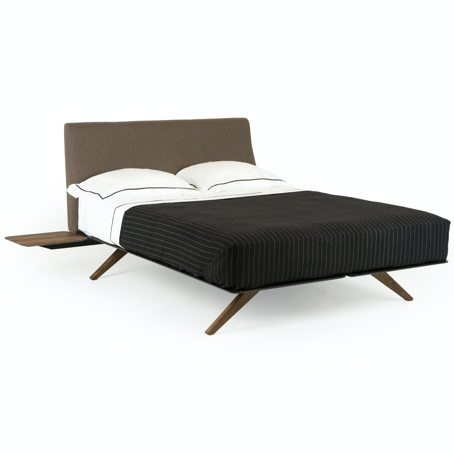 De La Espada Matthew Hilton Hepburn Bed Walnut Side Table Haute Living