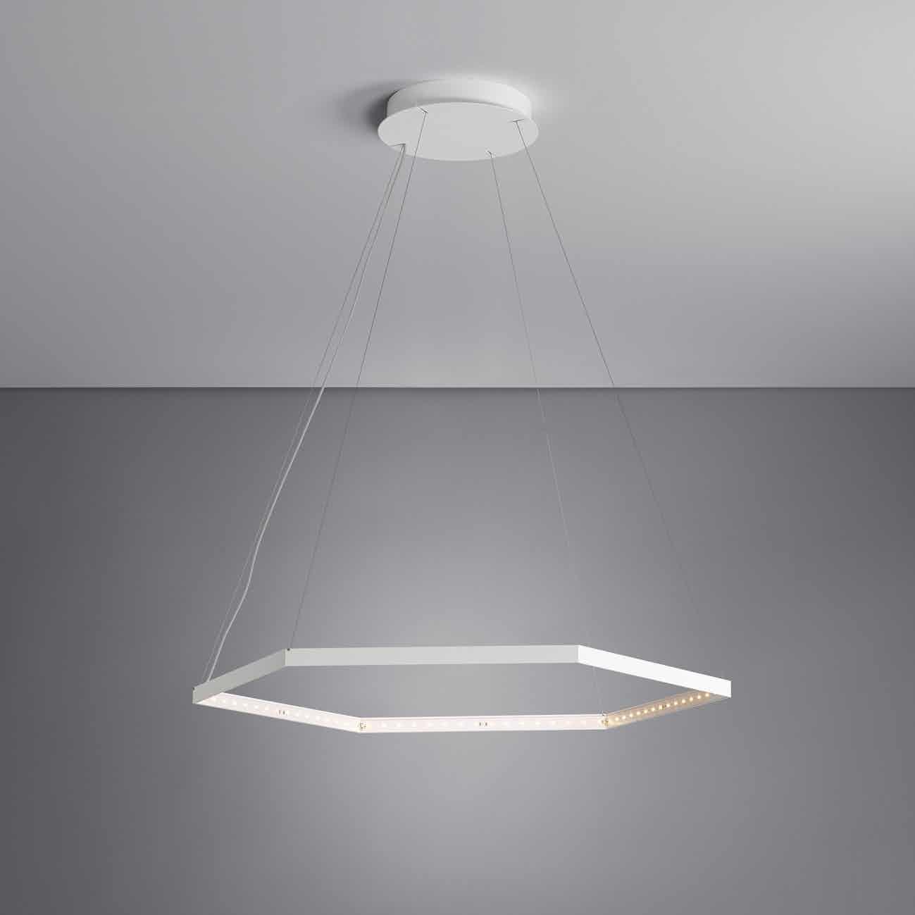 Le deun luminaires hexa 1 hanging lamp white ceiling haute living 190415 181915