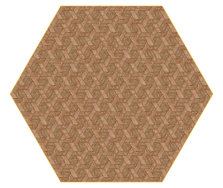Moooi Carpets Hexagon Brown Haute Living
