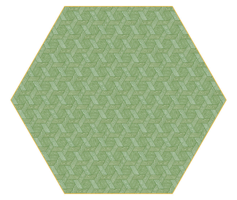 Moooi Carpets Hexagon Green Haute Living