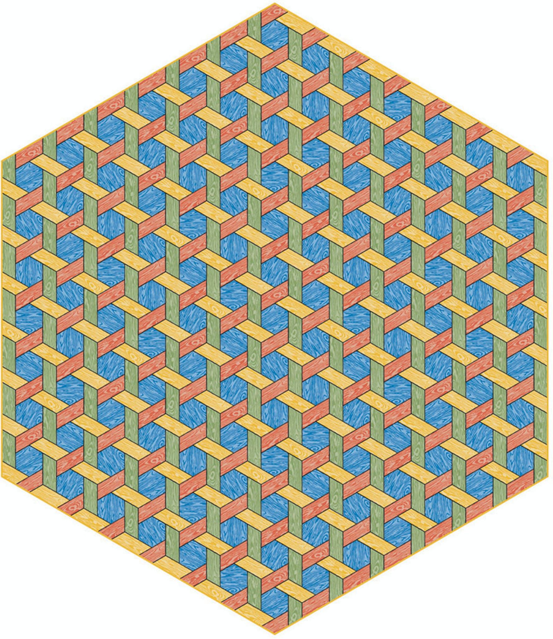 Moooi Carpets Hexagon Multi Haute Living