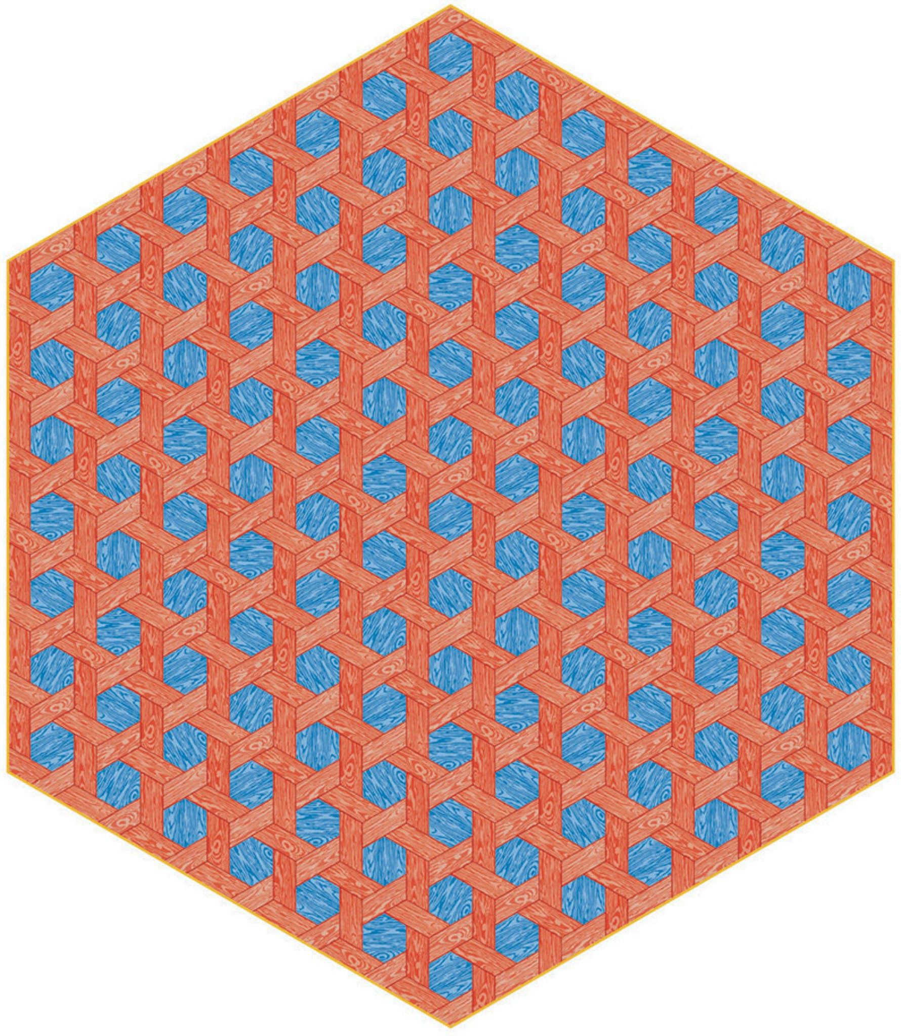 Moooi Carpets Hexagon Red Blue Haute Living