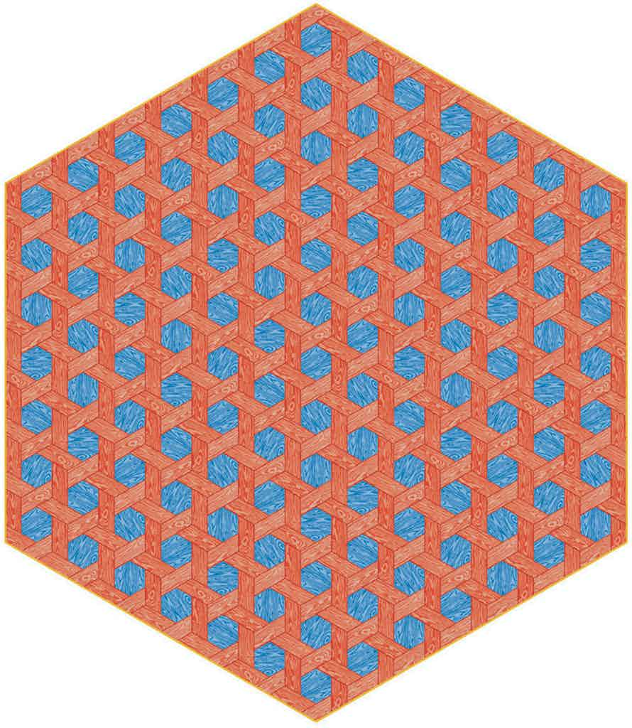 Moooi Carpets Hexagon Red Blue Haute Living