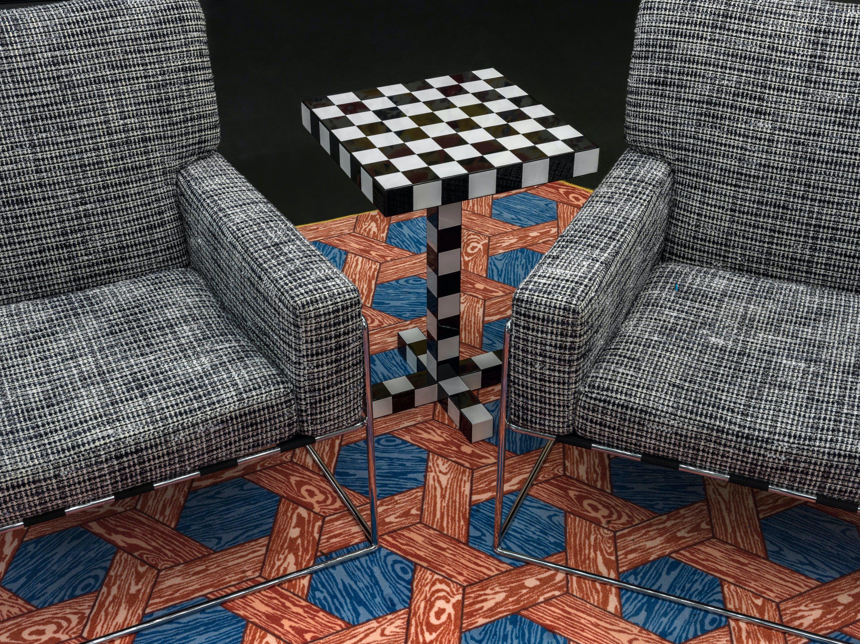 Moooi Carpets Hexagon Red Blue Insitu Haute Living