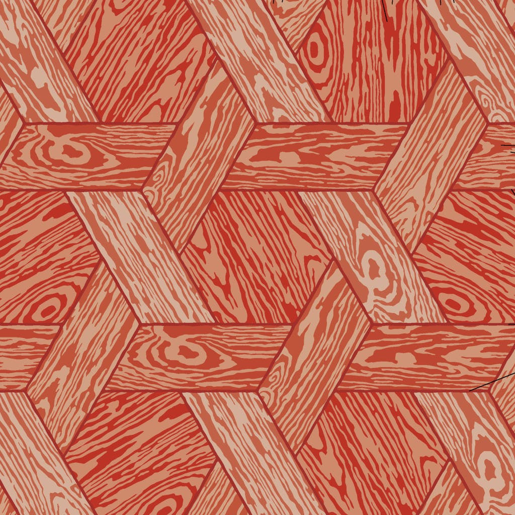 Moooi Carpets Hexagon Red Detail Haute Living