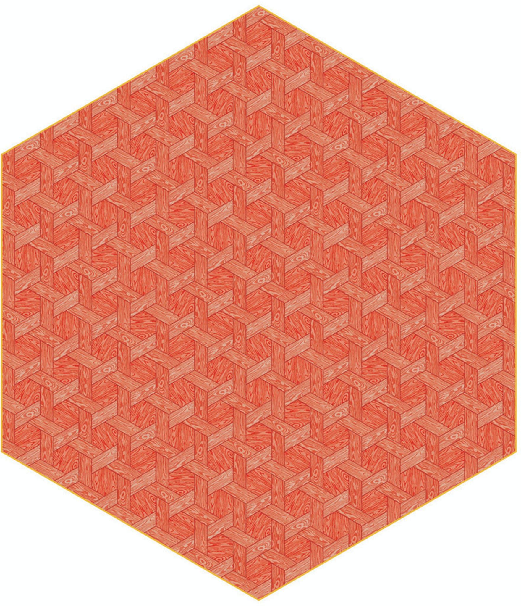 Moooi Carpets Hexagon Red Haute Living
