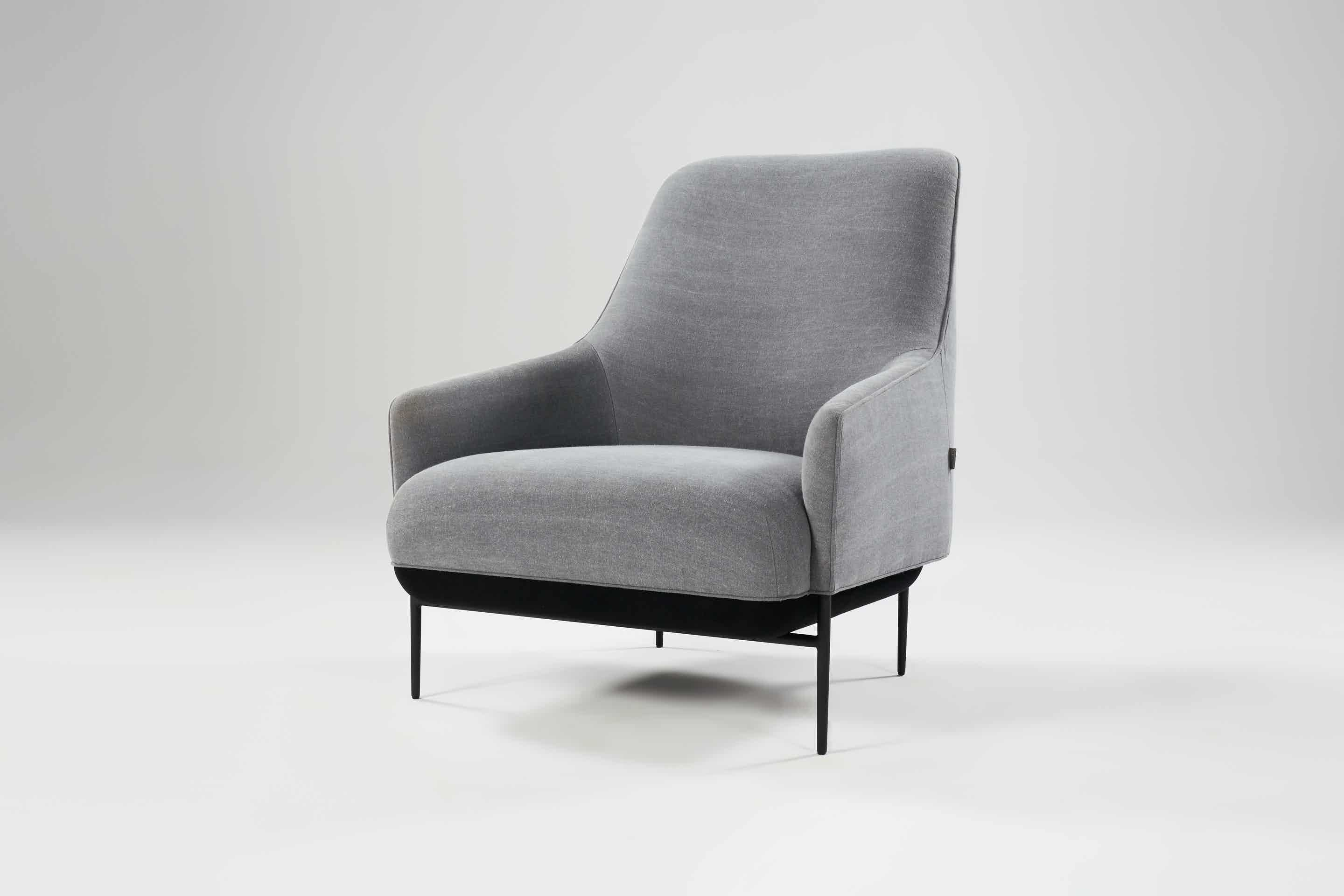 Wendelbo-high-back-chill-lounge-chair-grey-angle-haute-living